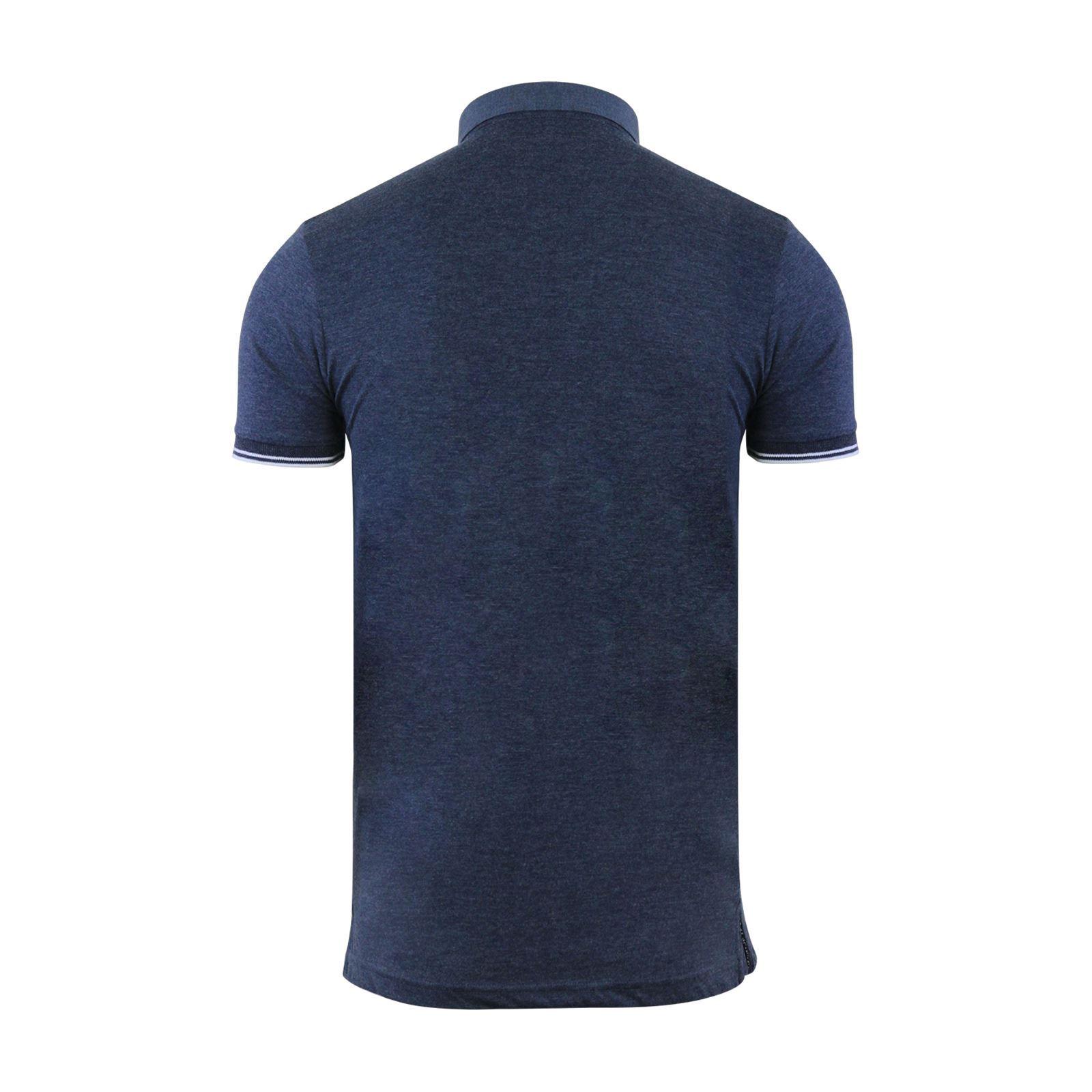 Mens-Polo-T-Shirt-Brave-Soul-Aqua-Printed-Short-Sleeve-Chambray-Collar-Top thumbnail 3