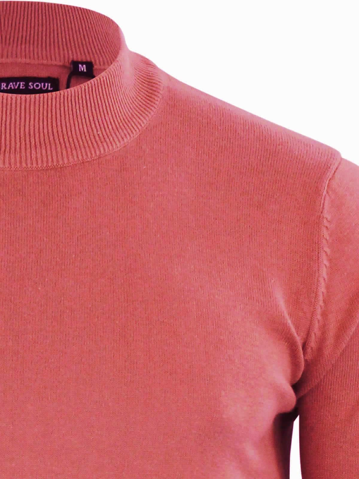 Mens-Jumper-Brave-Soul-Turtle-Neck-Cotton-Pull-Over-Sweater thumbnail 33