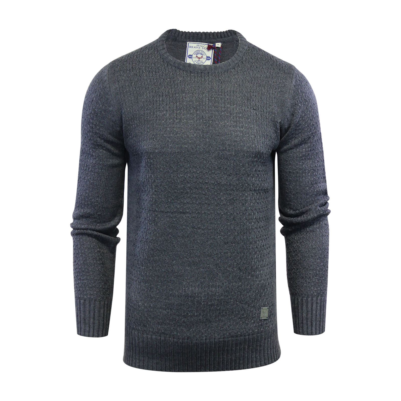 Mens-Jumper-Brave-Soul-Knitted-Sweater-In-Various-Styles thumbnail 16