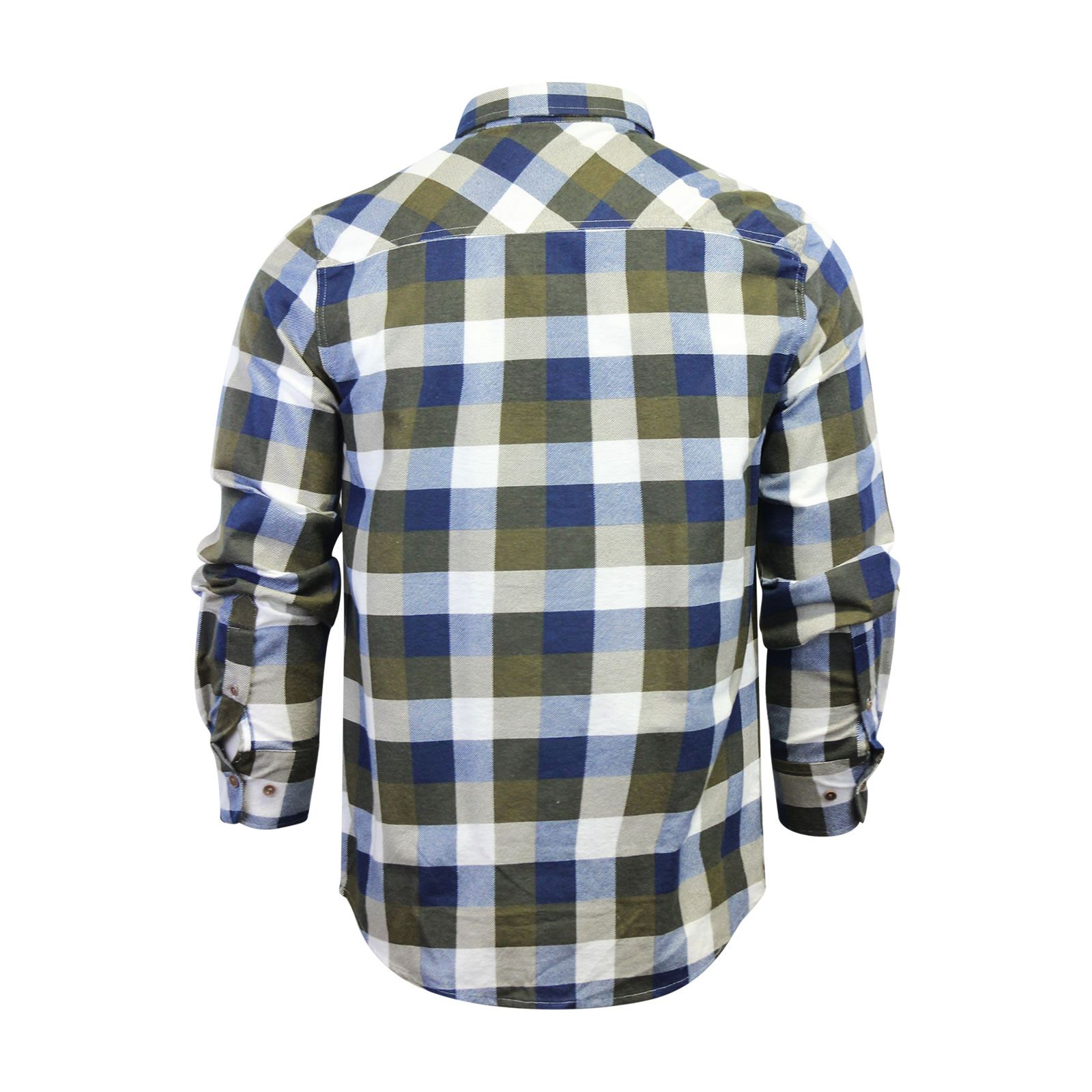 Mens-Check-Shirt-Brave-Soul-Flannel-Brushed-Cotton-Long-Sleeve-Casual-Top thumbnail 113