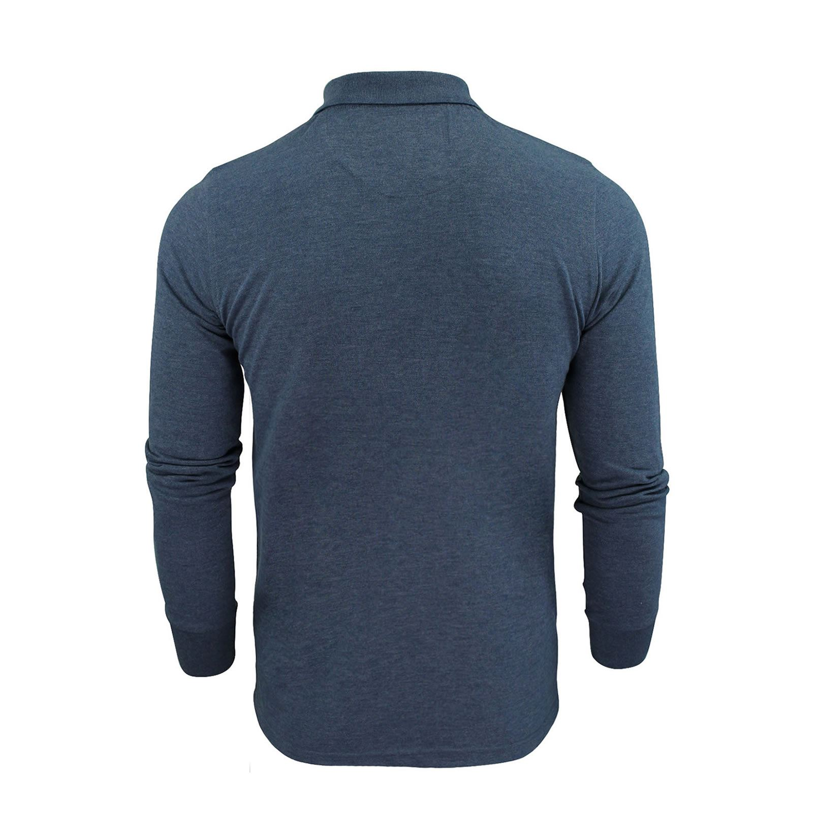 Mens-Polo-T-Shirt-Brave-Soul-Lincoln-Long-Sleeve-Cotton-Pique-Casual-Top thumbnail 15