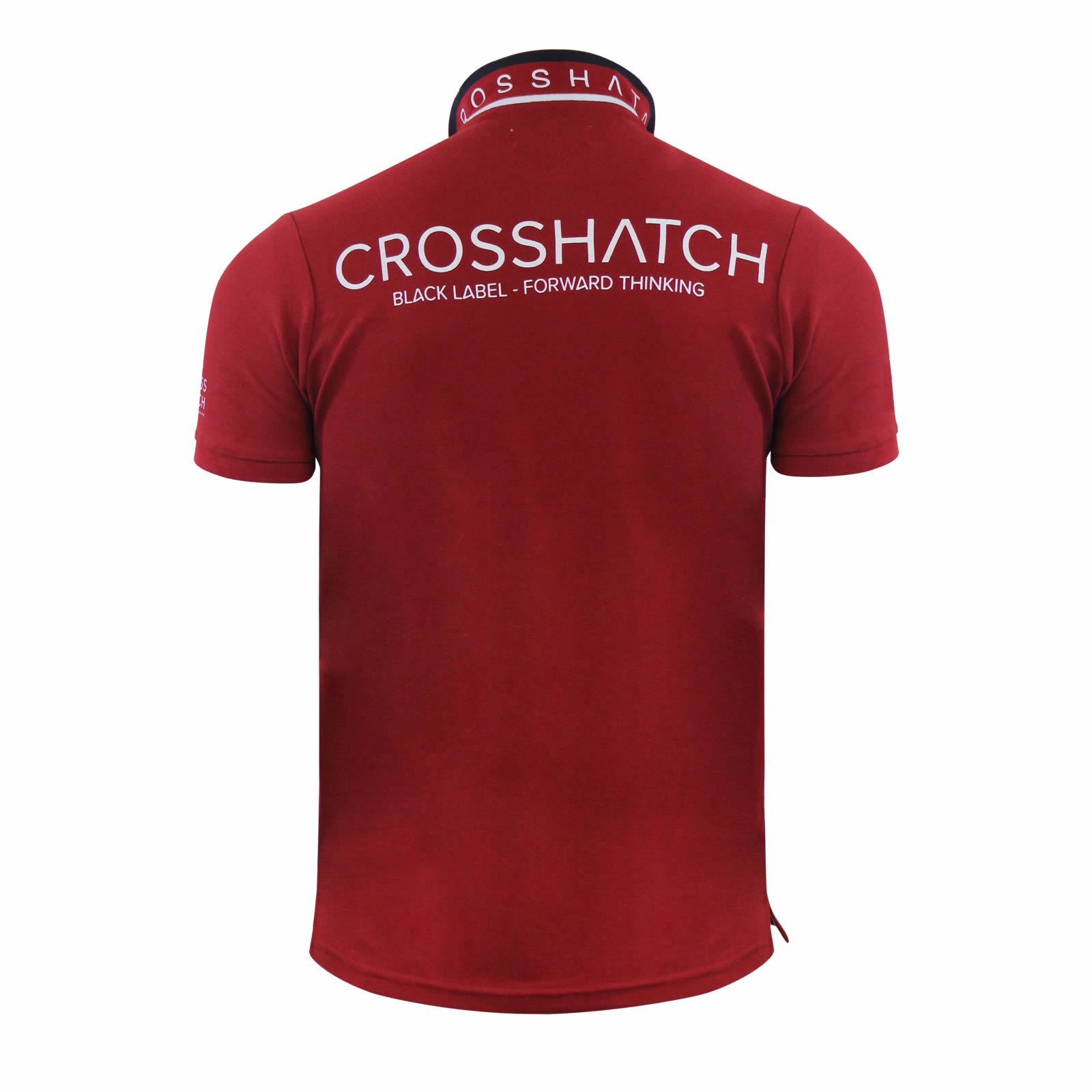 Mens-Polo-T-Shirt-Crosshatch-Evangels-Collared-Cotton-Short-Sleeve-Casual-Top thumbnail 12