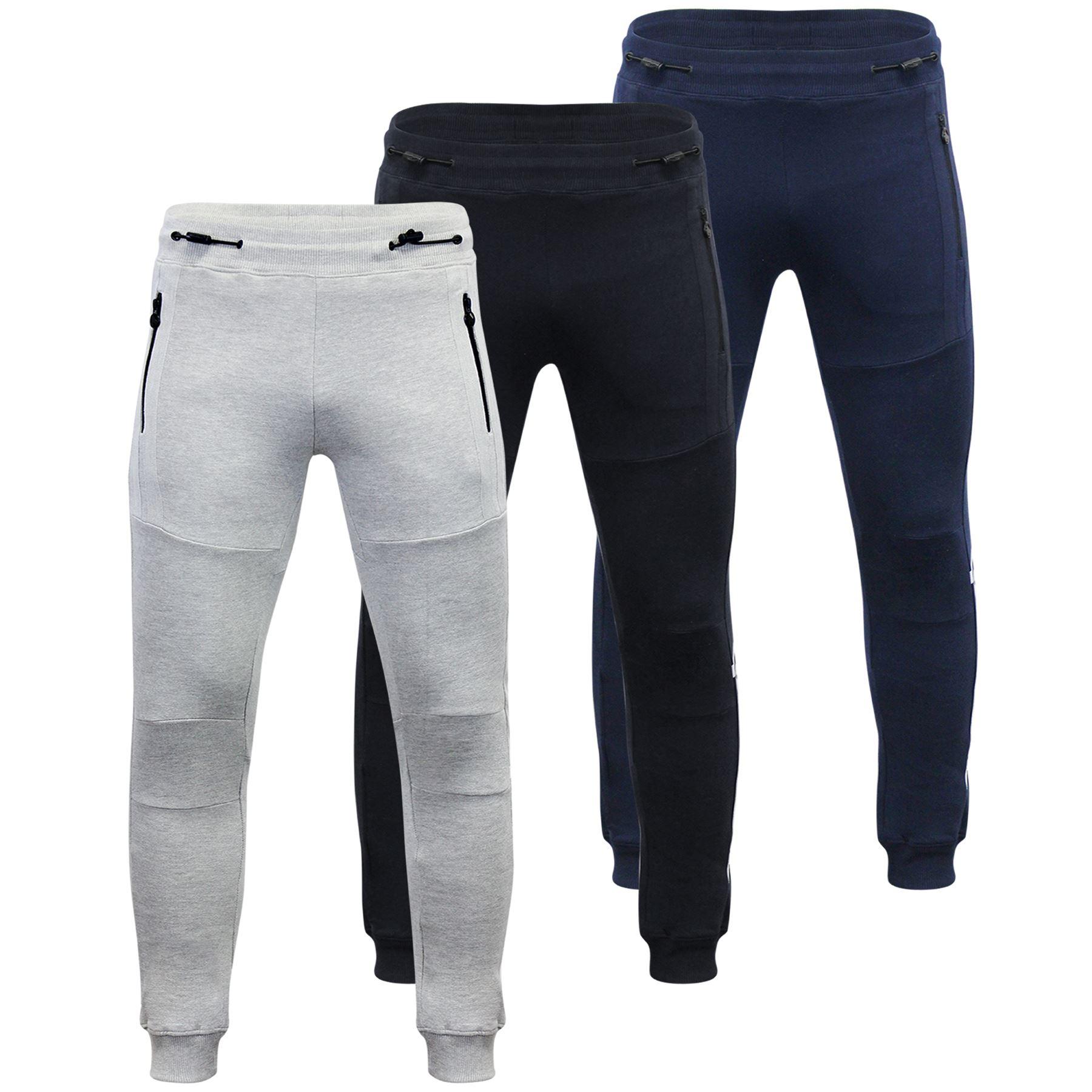 Mens Joggers Money Sig Strip Jog Skinny Slim Casual Jogging Gym Pants