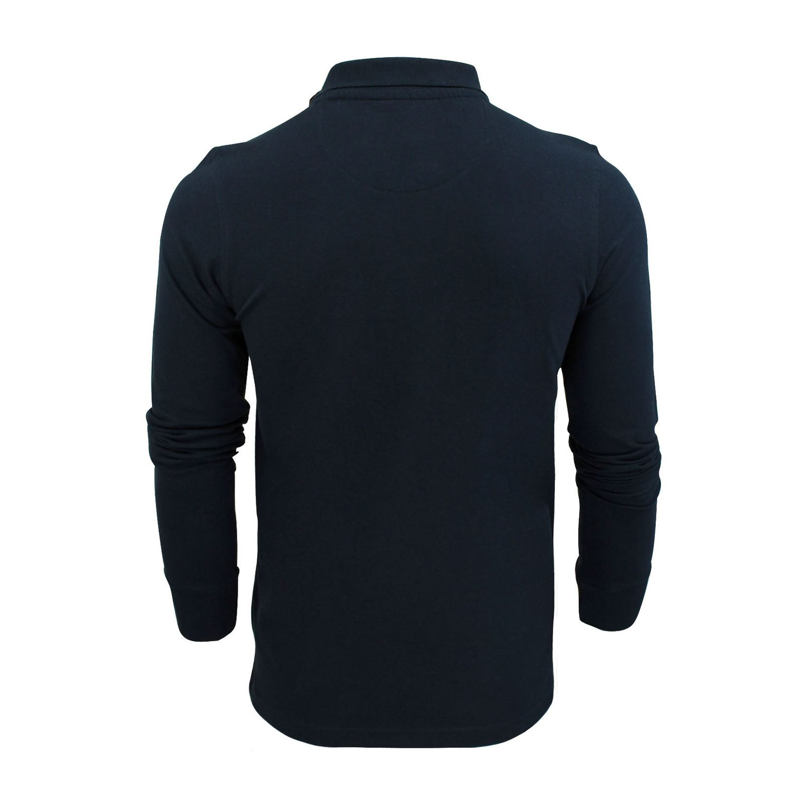 Mens-Polo-T-Shirt-Brave-Soul-Lincoln-Long-Sleeve-Cotton-Pique-Casual-Top thumbnail 11