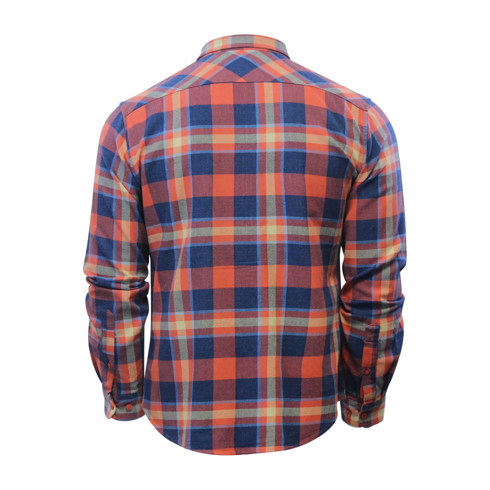 miniature 5 - Mens Check Shirt Crosshatch arizonica Flannel Brushed Cotton Long Manche