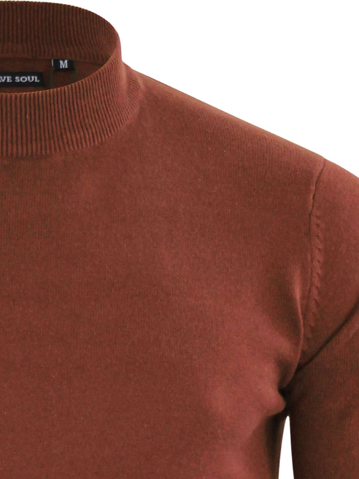 Mens-Jumper-Brave-Soul-Turtle-Neck-Cotton-Pull-Over-Sweater thumbnail 22