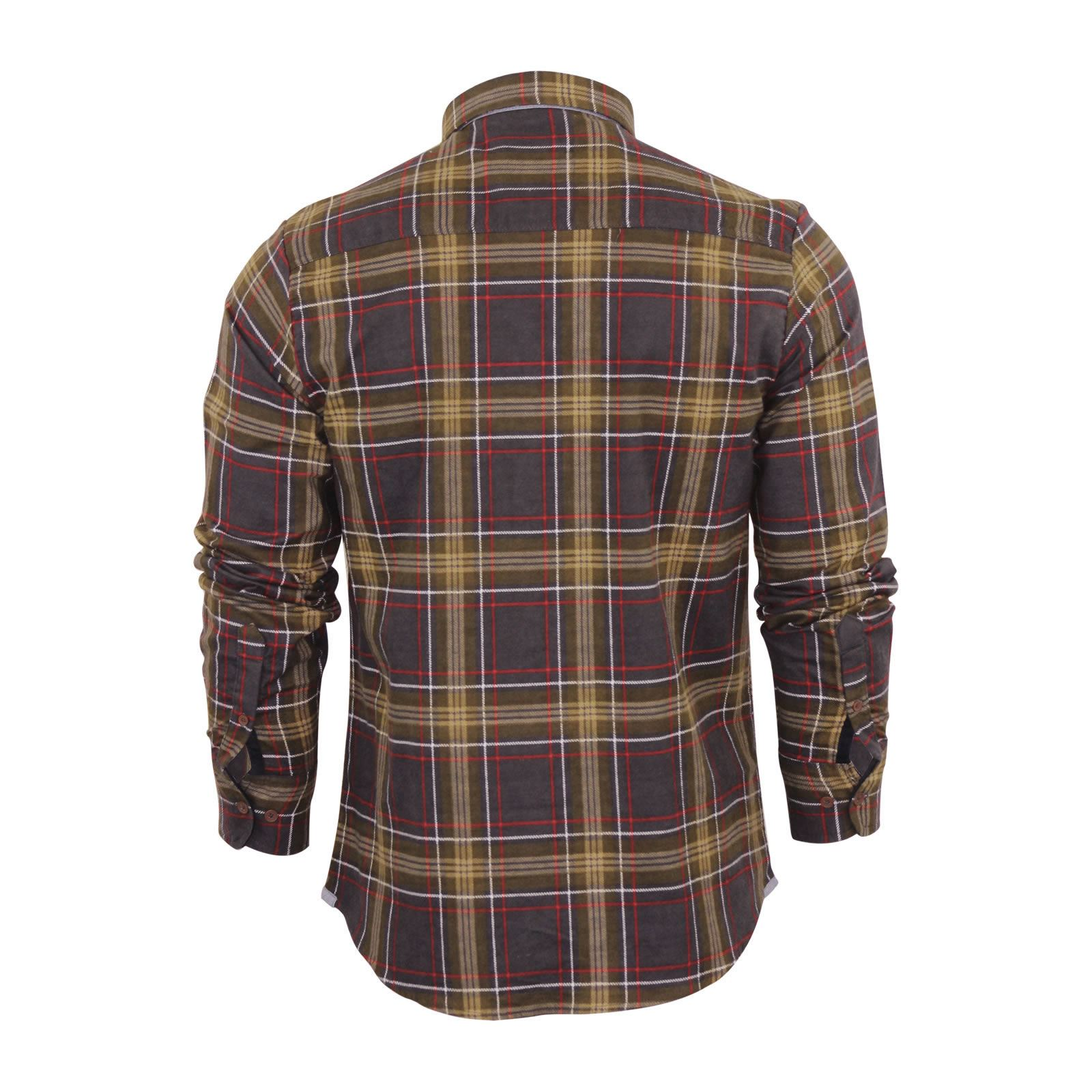Mens-Check-Shirt-Brave-Soul-Flannel-Brushed-Cotton-Long-Sleeve-Casual-Top thumbnail 9