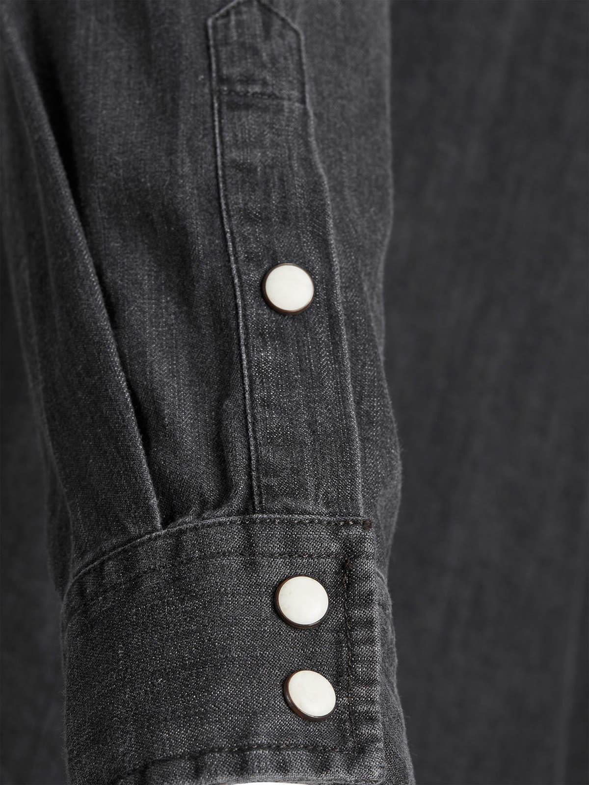 d8dde24d154 Mens Denim Shirt JACK   JONES One Long Sleeve Collared Denim Top