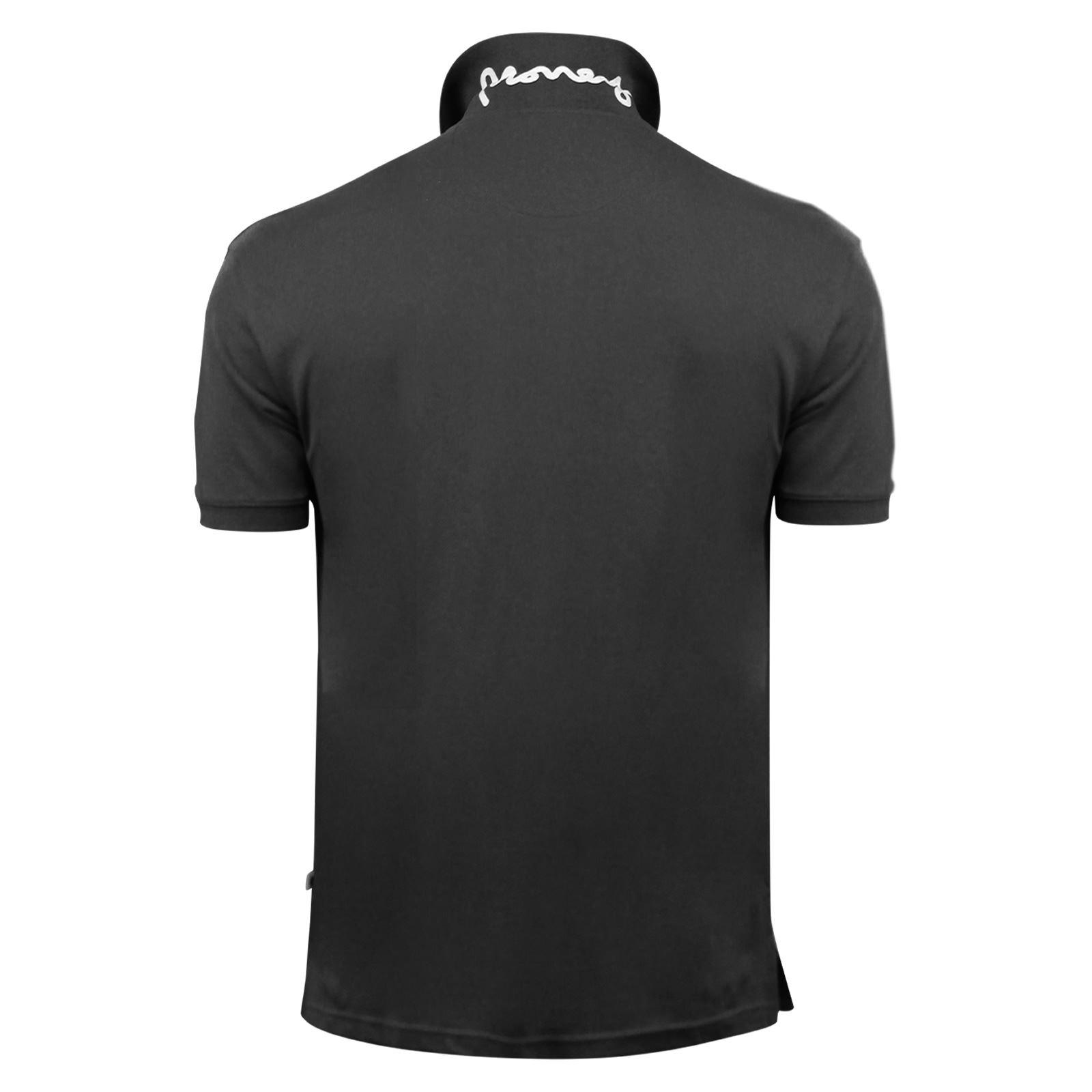 Argent-ante-Homme-Polo-Shirt-a-Manches-Courtes-en-Coton-Col-Haut-Decontracte miniature 5