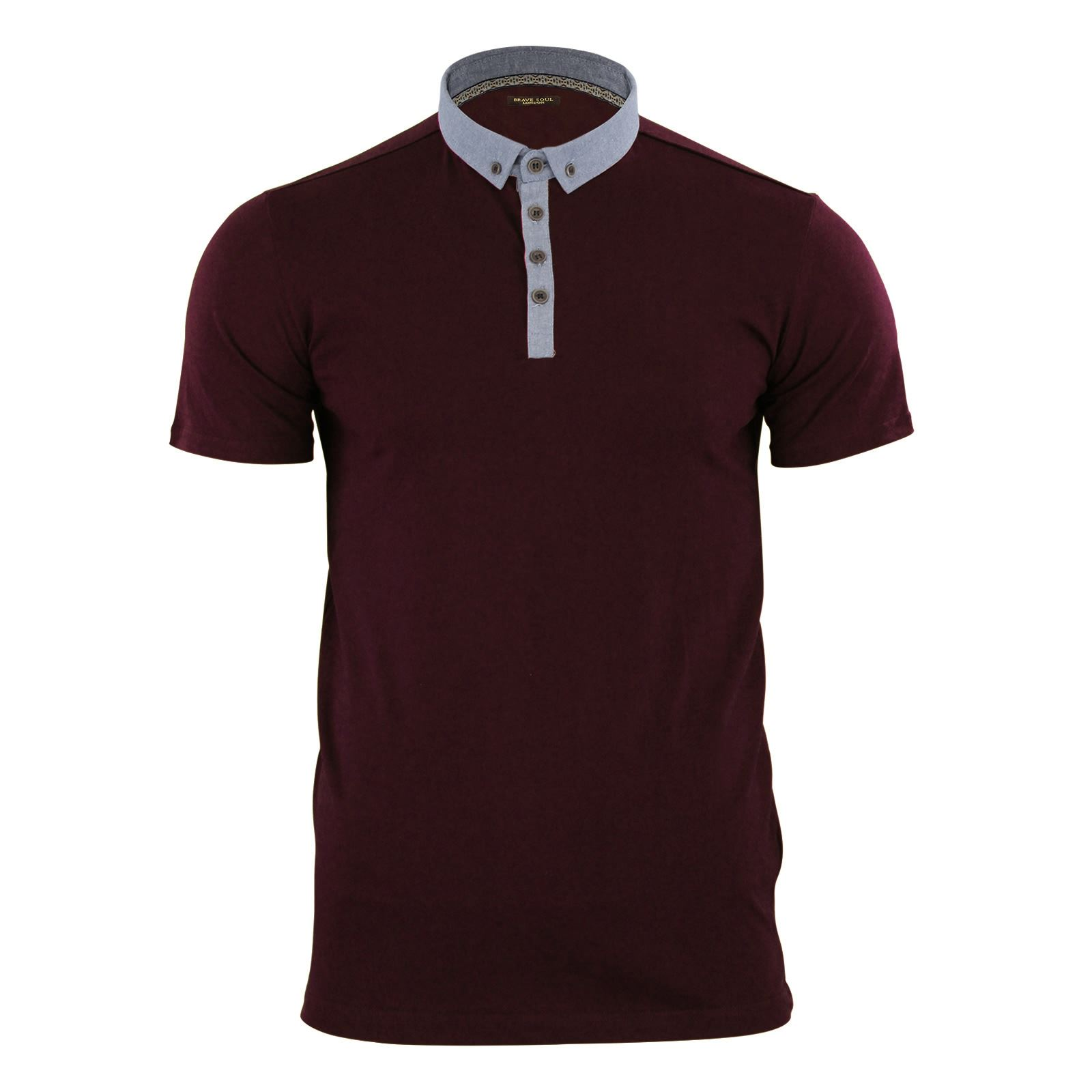 Mens-Polo-T-Shirt-Brave-Soul-Glover-Cotton-Collared-Short-Sleeve-Casual-Top thumbnail 24