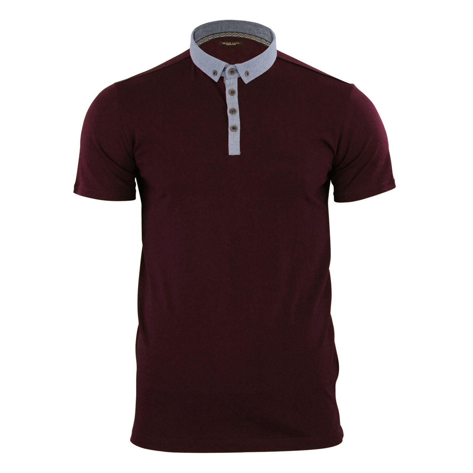 Para-Hombre-Polo-T-Shirt-Alma-valiente-Glover-Algodon-Con-Cuello-Y-Manga-Corta-Casual-Top miniatura 24