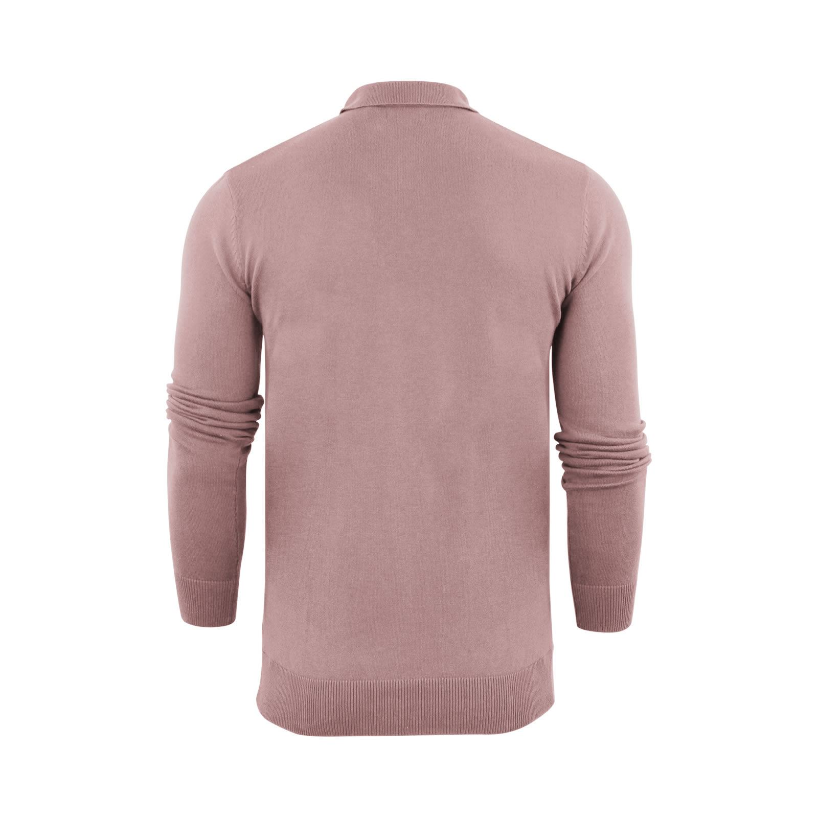 Brave-Soul-Patte-De-Boutonnage-Homme-Tricot-Polo-T-Shirt-a-Col-Pull miniature 18