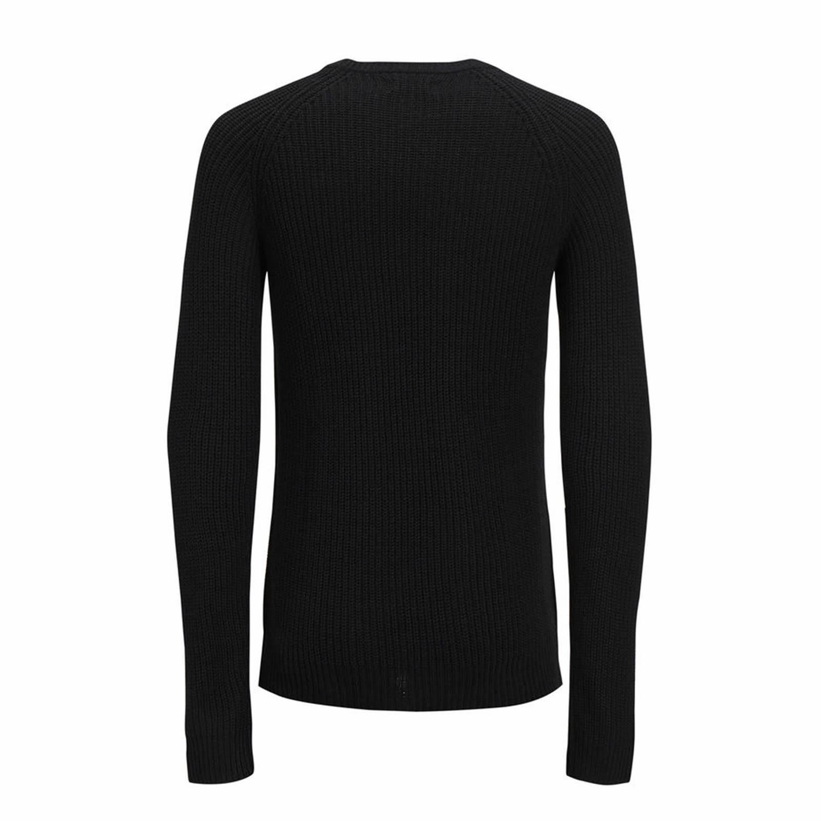 Jack-amp-Jones-Panneau-Pull-homme-a-encolure-ras-du-cou-Long-Tricot-Pull-Over-Sweater miniature 5