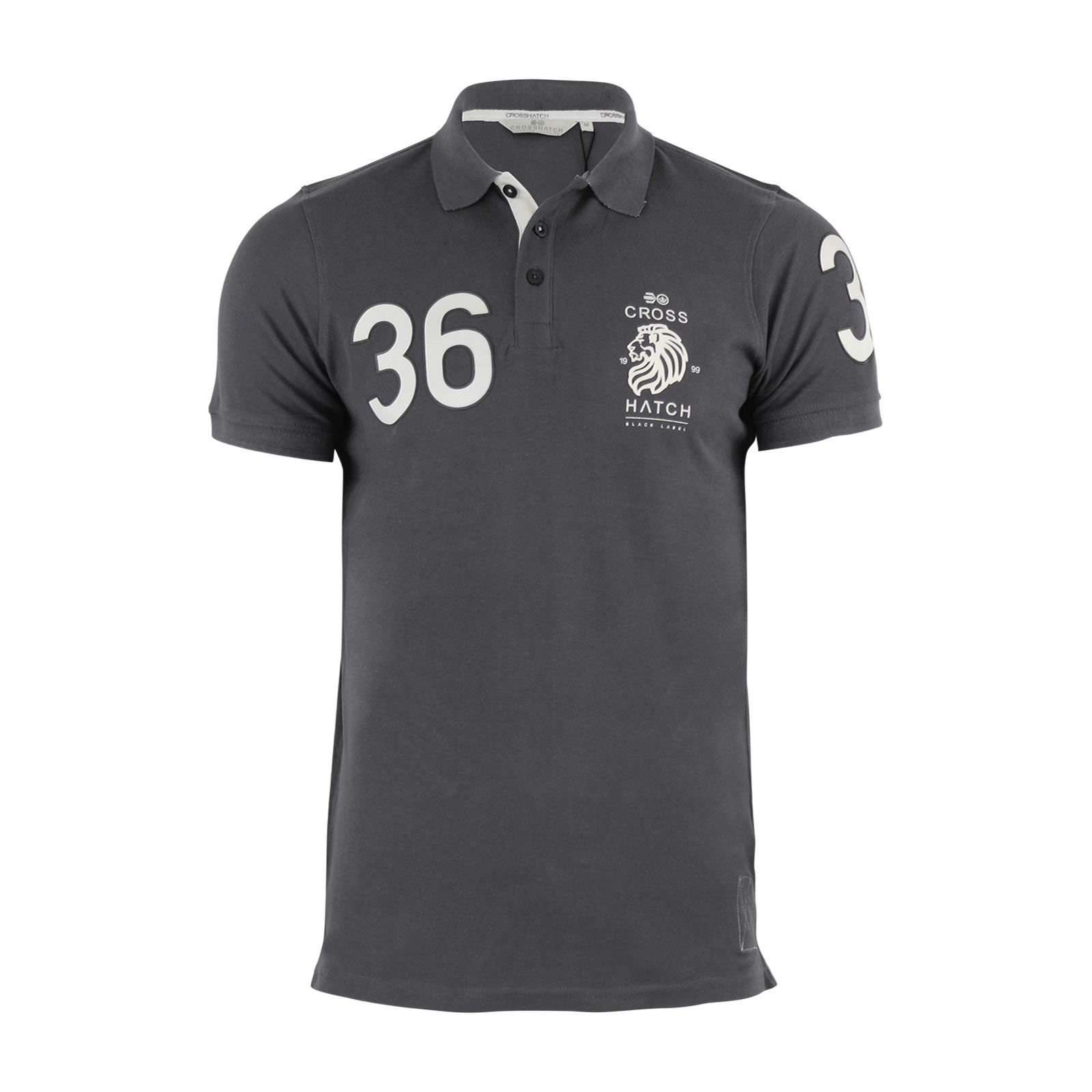 Crosshatch-Mens-Polo-T-Shirt-Pique-Polo-Cotton-Collared-Short-Sleeve-T-Shirt thumbnail 21