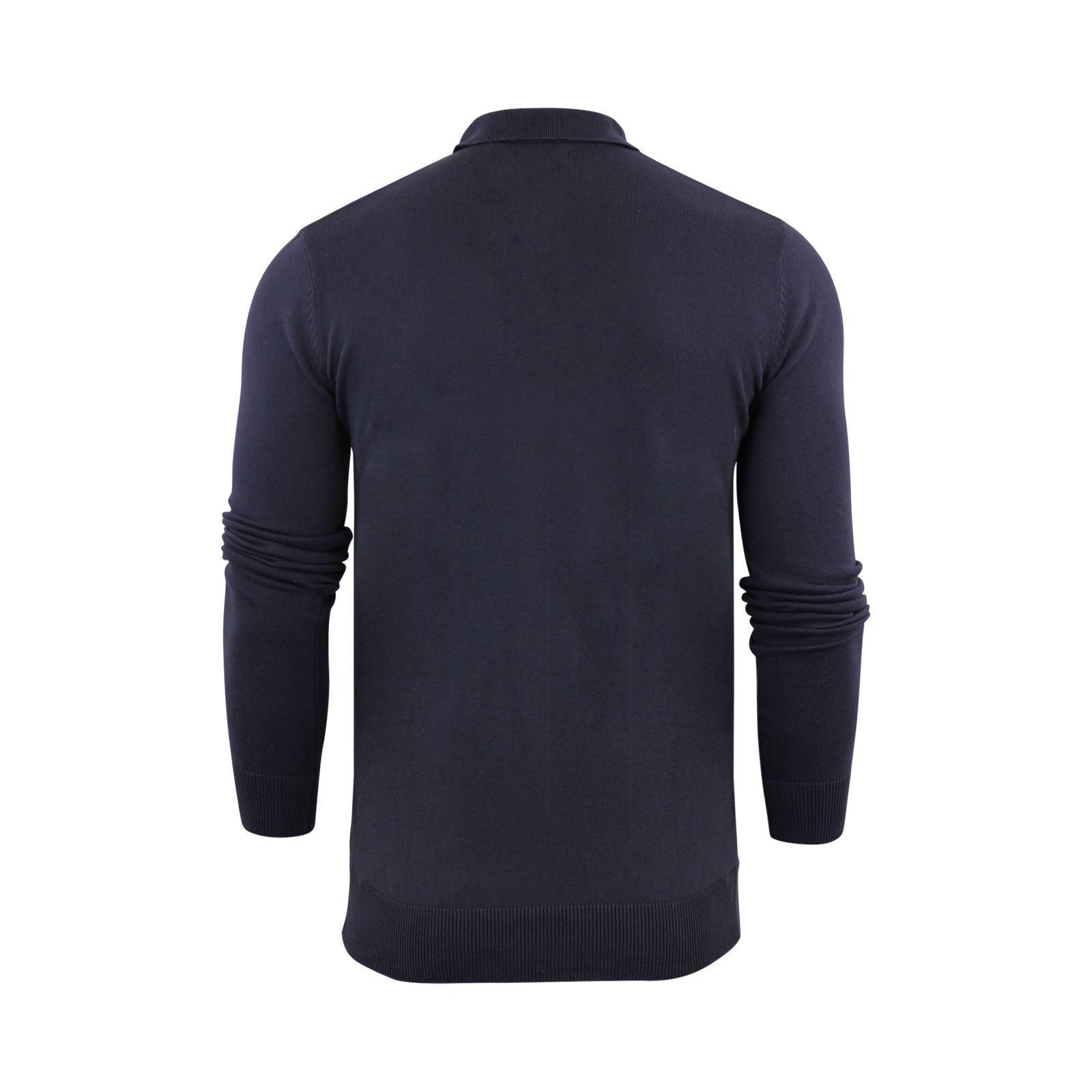 Brave-Soul-Patte-De-Boutonnage-Homme-Tricot-Polo-T-Shirt-a-Col-Pull miniature 3
