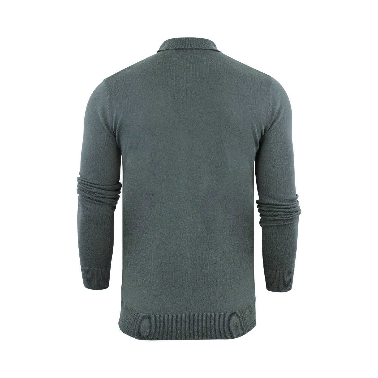 Brave-Soul-Patte-De-Boutonnage-Homme-Tricot-Polo-T-Shirt-a-Col-Pull miniature 9