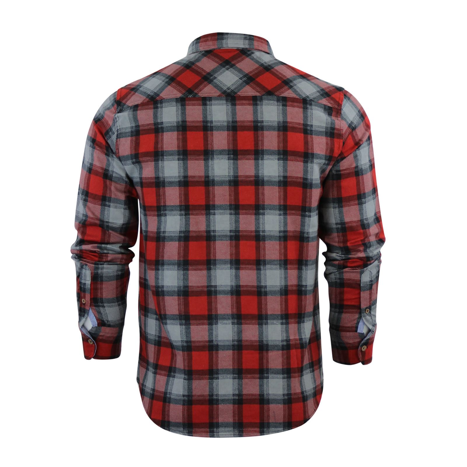 Mens-Check-Shirt-Brave-Soul-Flannel-Brushed-Cotton-Long-Sleeve-Casual-Top thumbnail 42