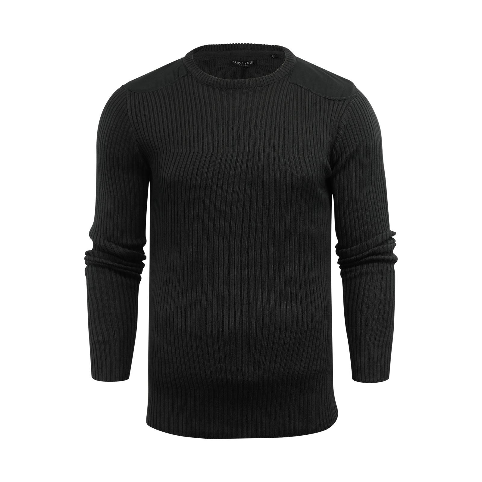 Mens-Jumper-Brave-Soul-Knitted-Sweater-In-Various-Styles thumbnail 82
