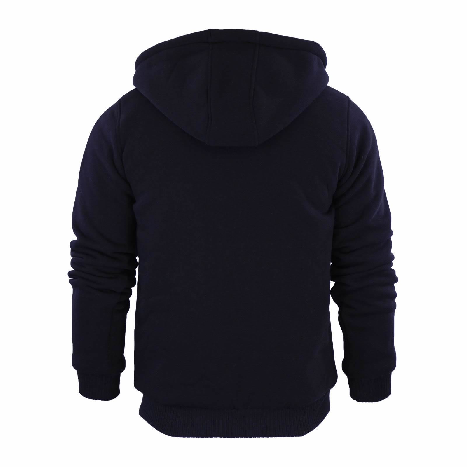 Brave-Soul-Zone-Mens-Hoodie-Sherpa-Fleece-Lined-Zip-Up-Hooded-Sweater thumbnail 3