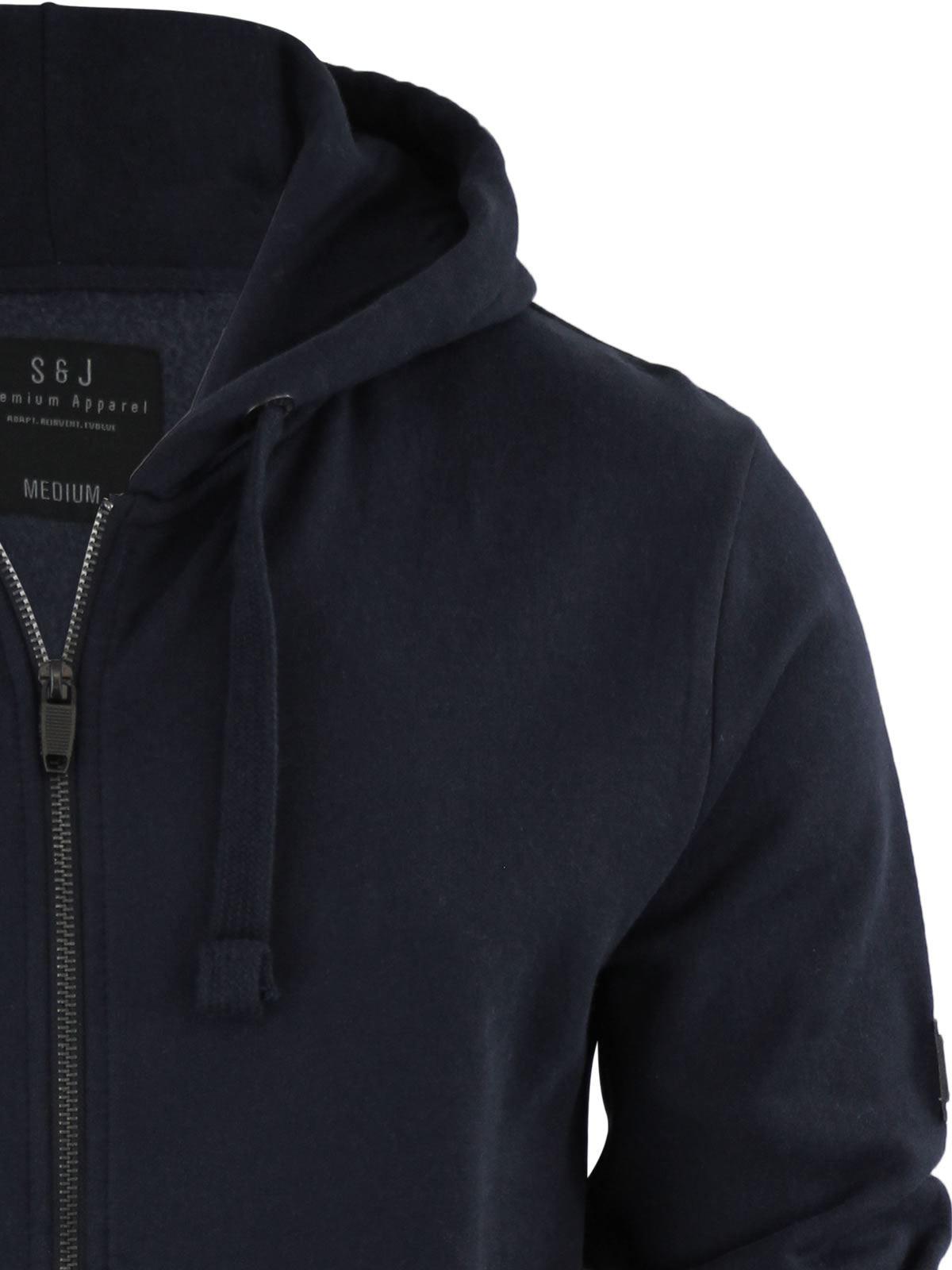 Mens-Hoodie-Smith-amp-Jones-Zip-Up-Hooded-Sweater-Jumper thumbnail 13