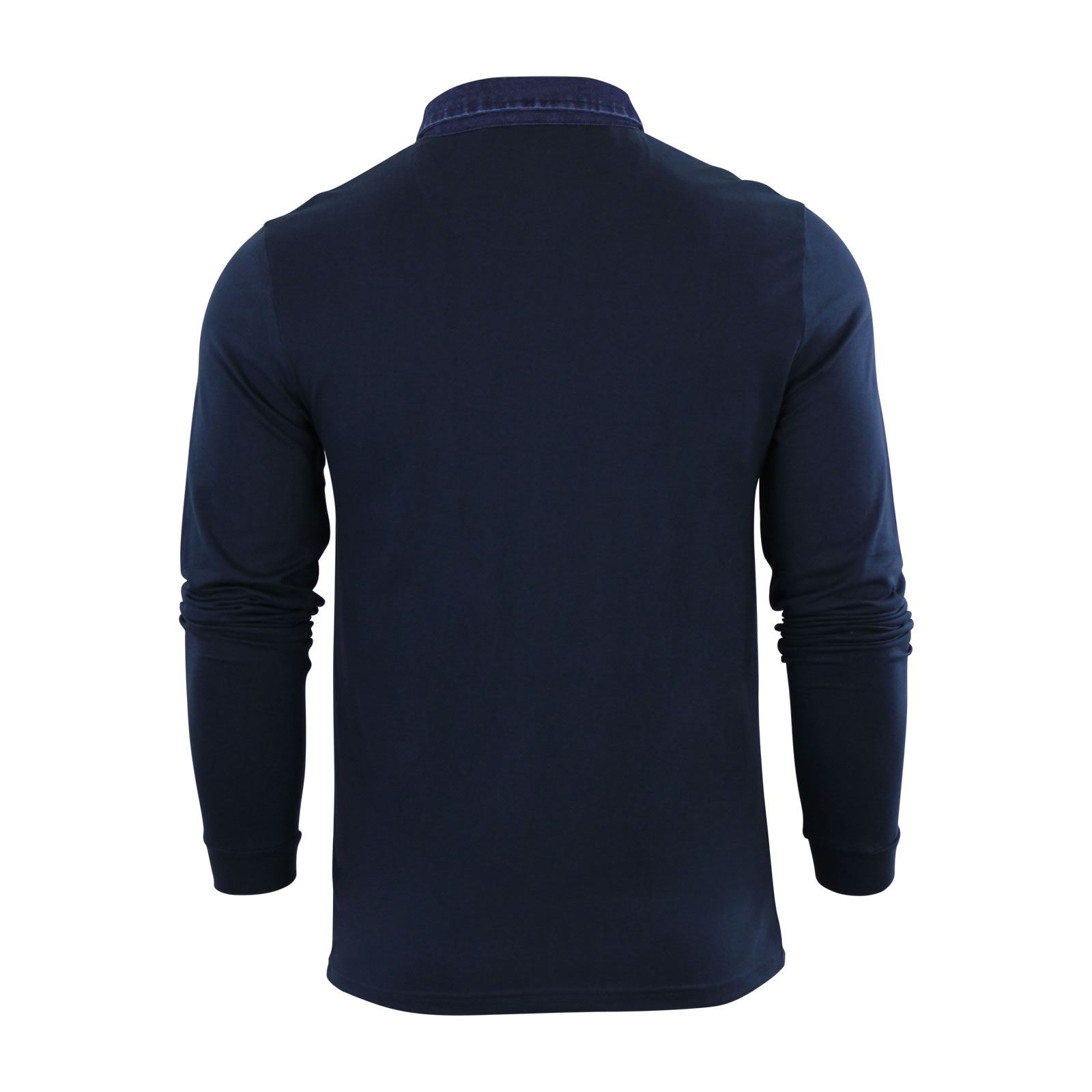 Mens-Polo-Shirt-Brave-Soul-Long-Sleeve-Collared-Top-In-Various-Styles thumbnail 12