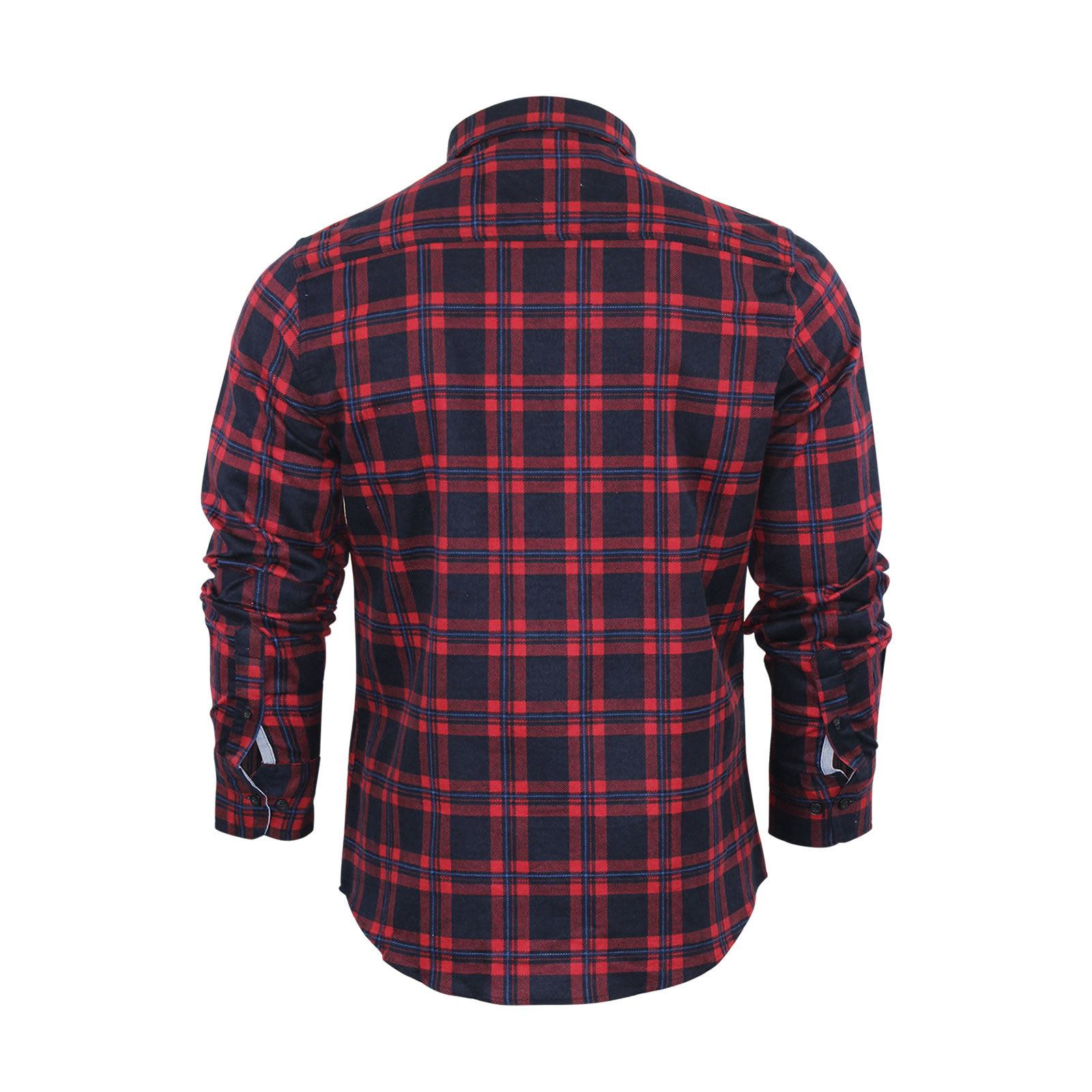 Mens-Check-Shirt-Brave-Soul-Flannel-Brushed-Cotton-Long-Sleeve-Casual-Top thumbnail 72