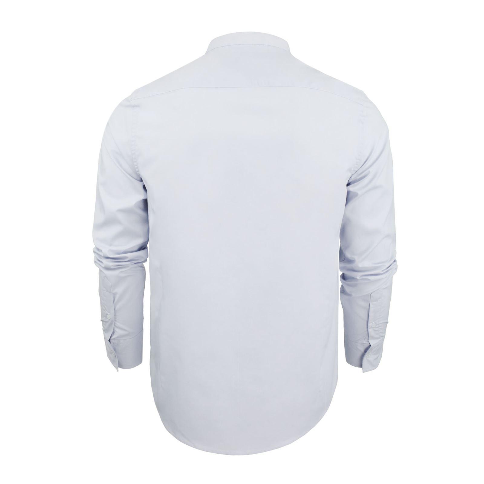 Mens-Shirt-Brave-Soul-Magnus-Plain-Grandad-Collar-Long-Sleeve-Casual-Top thumbnail 3