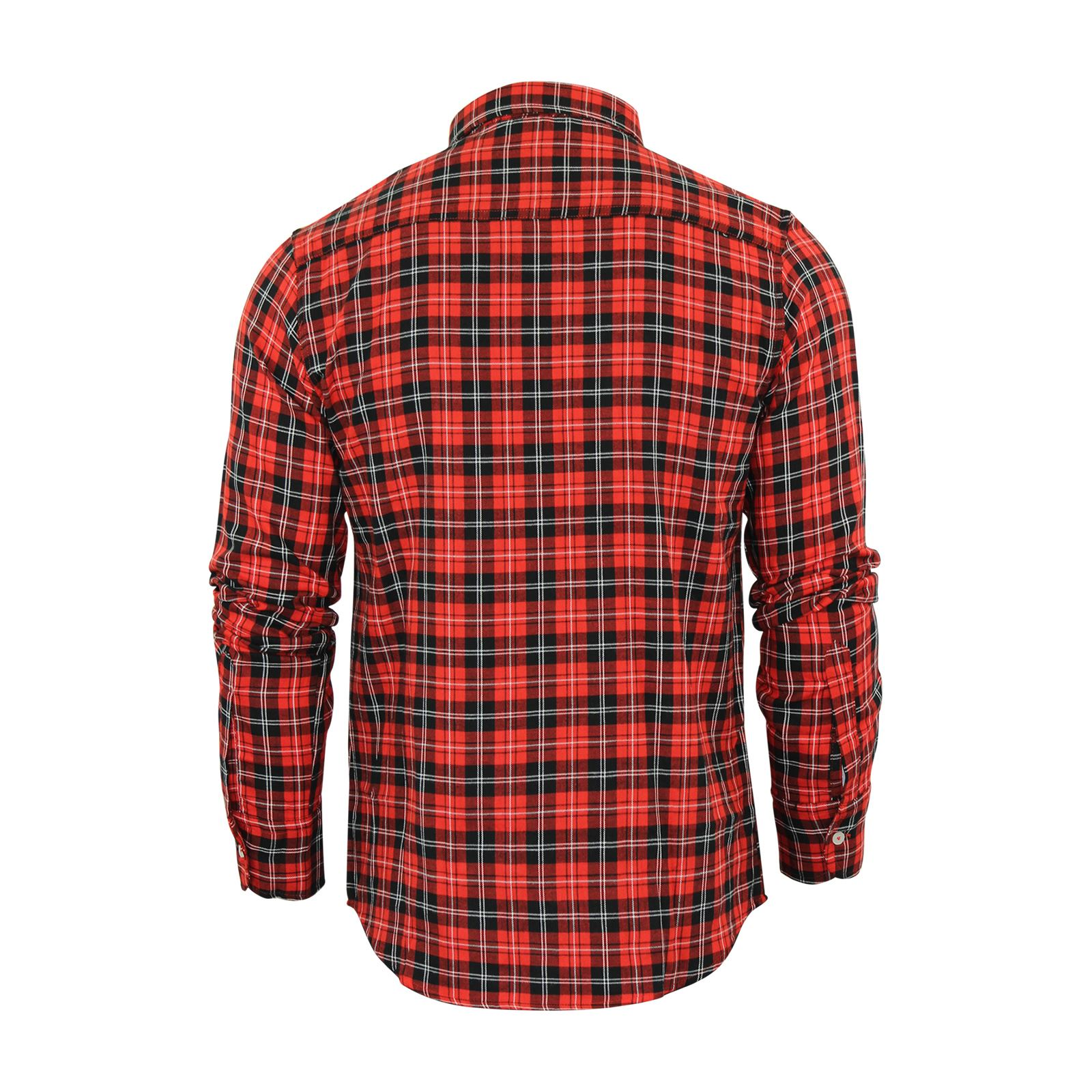Mens-Check-Shirt-Brave-Soul-Flannel-Brushed-Cotton-Long-Sleeve-Casual-Top thumbnail 60
