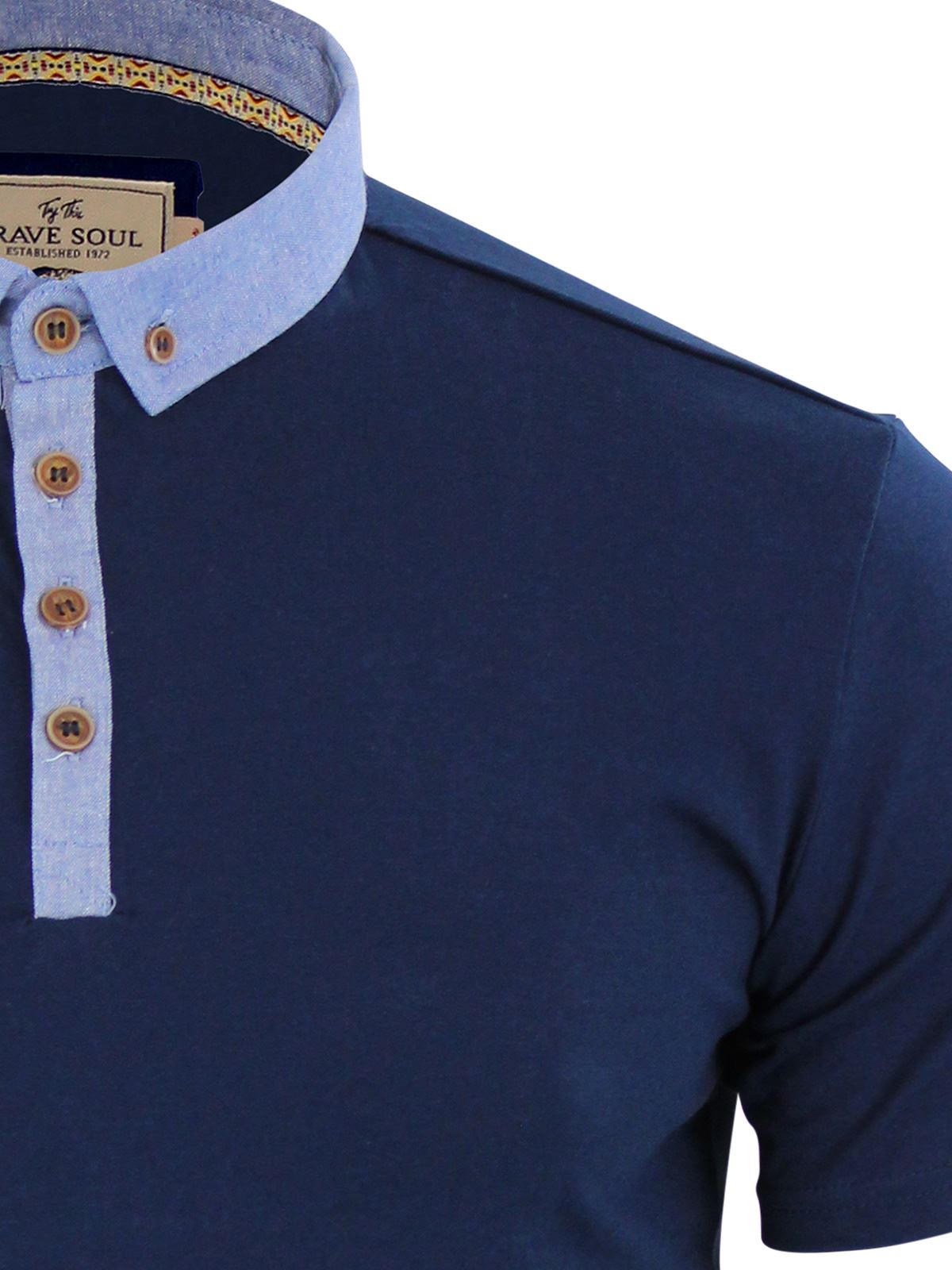 Brave-Soul-Glover-Mens-Polo-T-Shirt-Cotton-Collared-Short-Sleeve-Casual-Top thumbnail 22