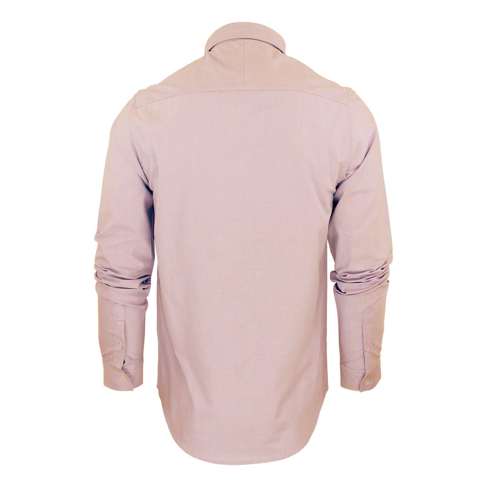 Brave-Soul-Pompei-Chemise-Homme-a-Manches-Longues-Oxford-Coton-A-Col-Haut-Decontracte miniature 5