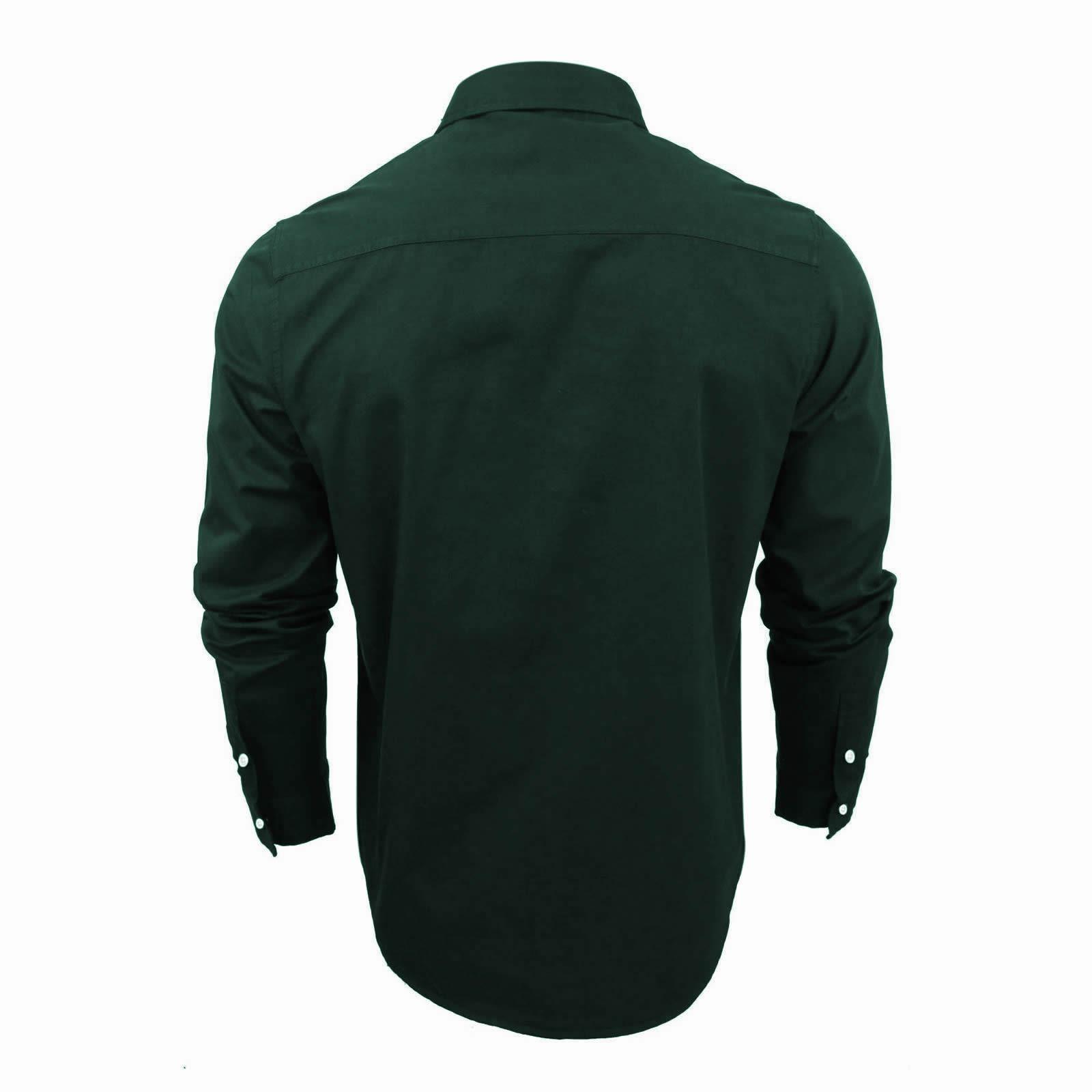 Mens-Shirt-Brave-Soul-Holmes-Long-Sleeve-Cotton-Canvas-Casual-Top thumbnail 3