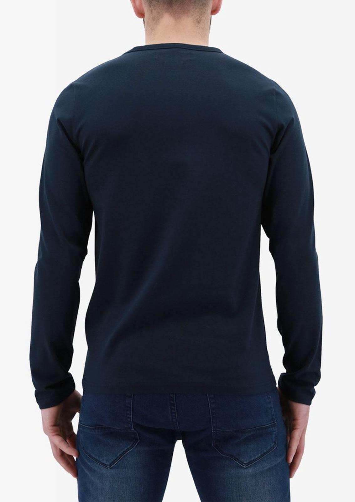 Ne-riche-par-l-039-argent-vetements-jaspe-sanguin-Hommes-T-Shirt-a-Manches-Longues-V-Neck-Tee miniature 12