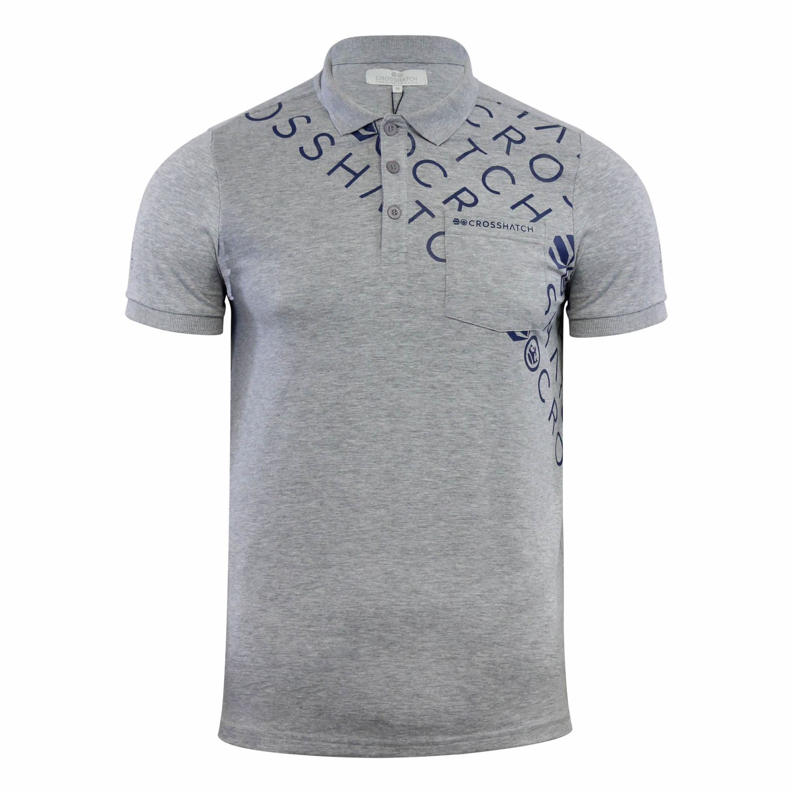 Crosshatch-Mens-Polo-T-Shirt-Pique-Polo-Cotton-Collared-Short-Sleeve-T-Shirt thumbnail 55