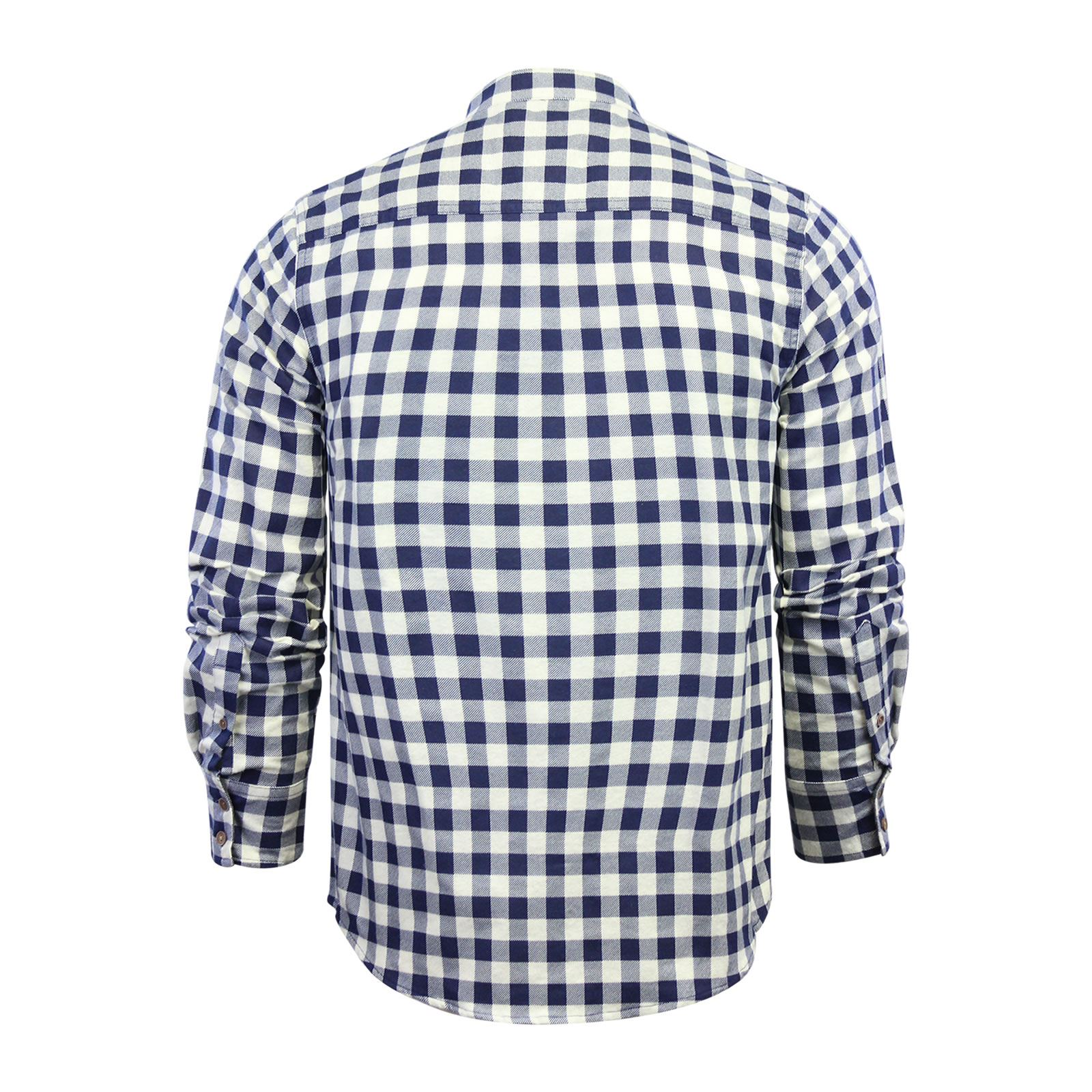 Mens-Check-Shirt-Brave-Soul-Flannel-Brushed-Cotton-Long-Sleeve-Casual-Top thumbnail 117