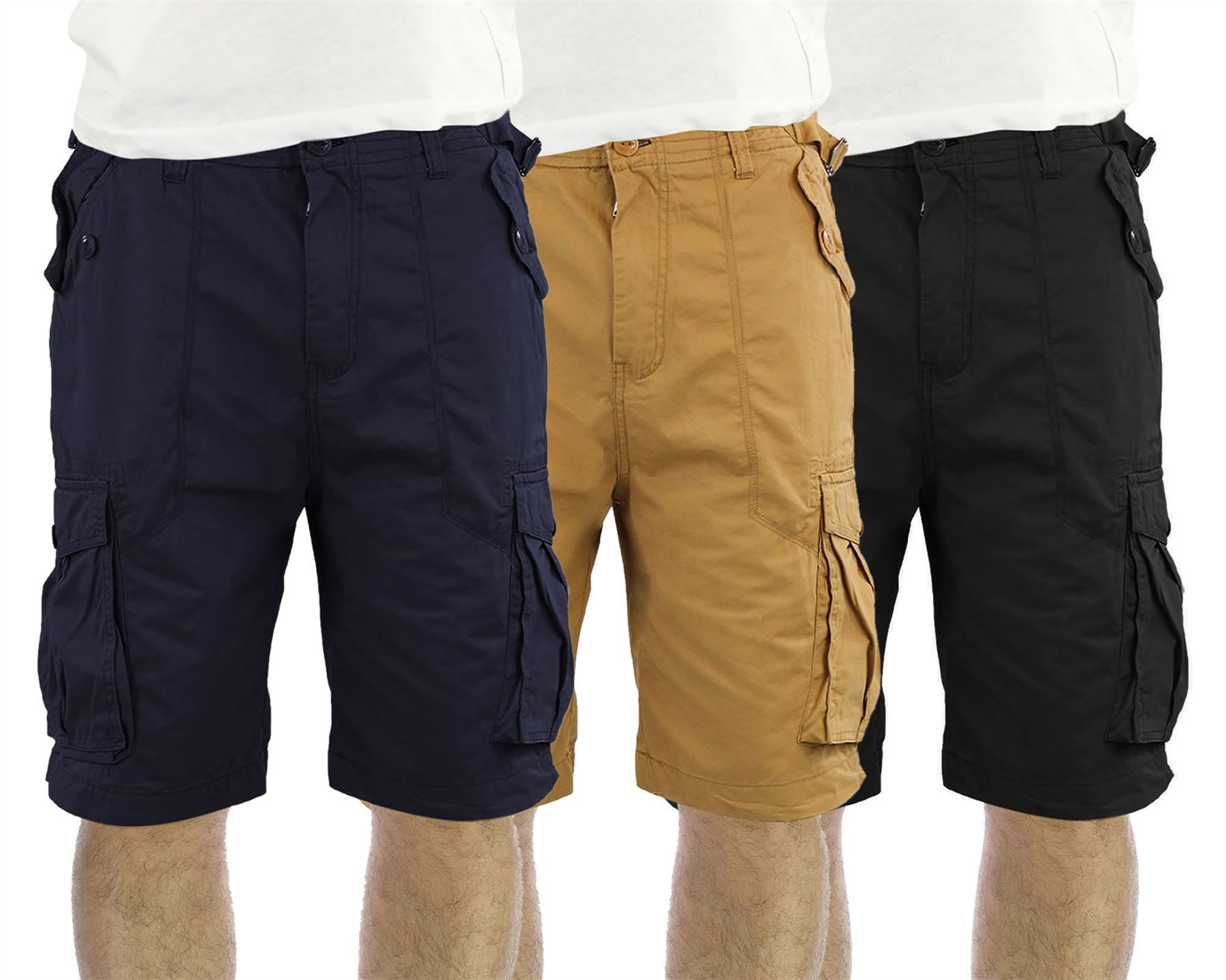 Mens Cargo Shorts Summer Casual Cotton Combat Pants Military Chino S M L XL 2XL