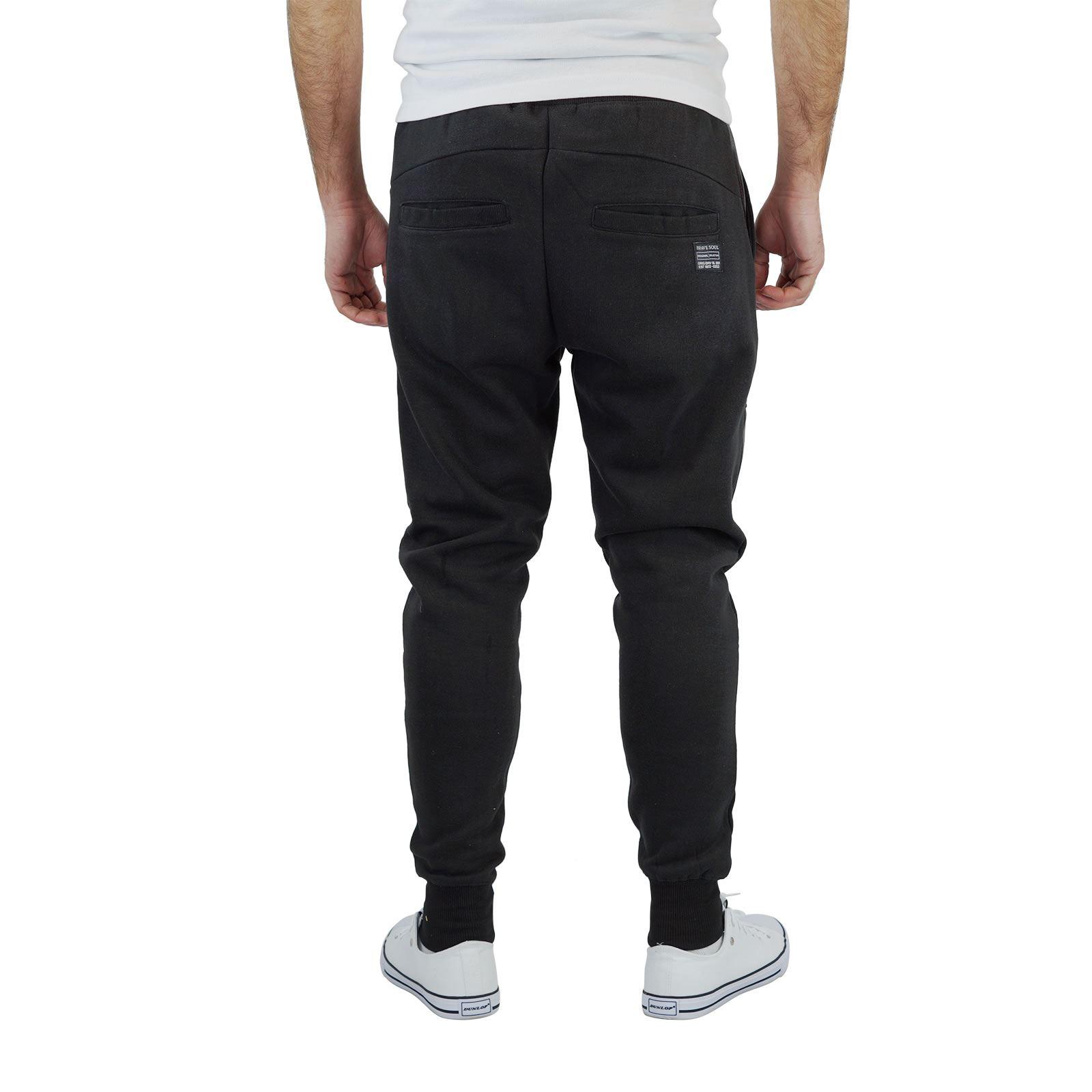 miniature 7 - Homme-Pantalon-De-Survetement-Brave-Soul-Sean-Slim-Motard-Panneau-Detail-Decontracte-Pantalon