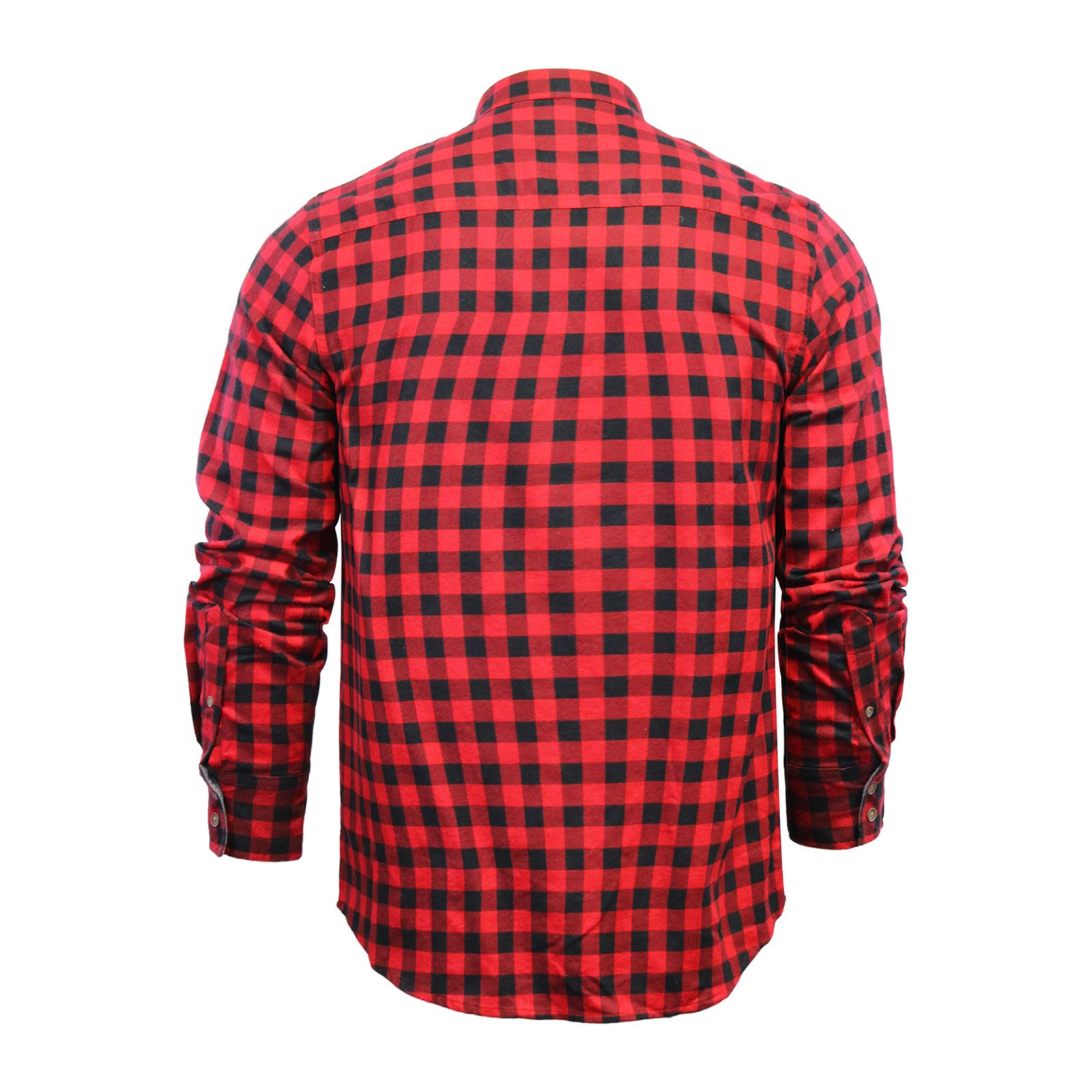 Mens-Check-Shirt-Brave-Soul-Flannel-Brushed-Cotton-Long-Sleeve-Casual-Top thumbnail 119
