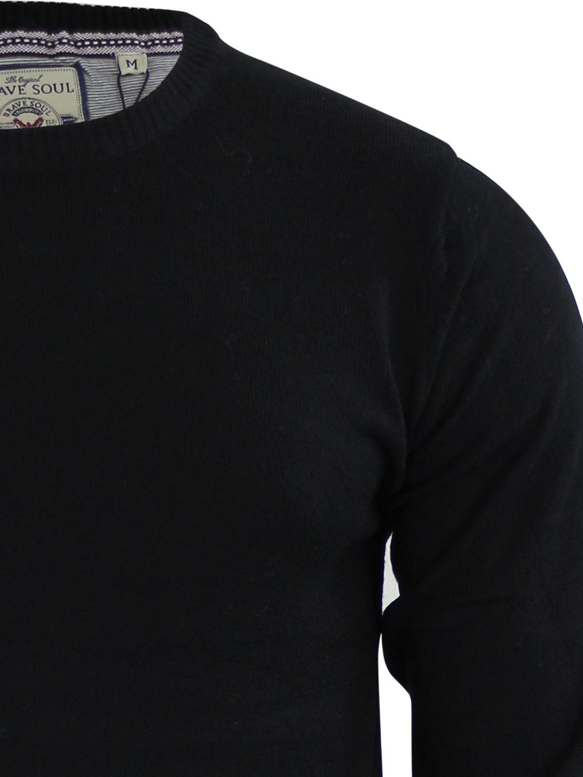 Brave-Soul-Urbain-Mens-Jumper-Knitted-Crew-Neck-Sweater thumbnail 30