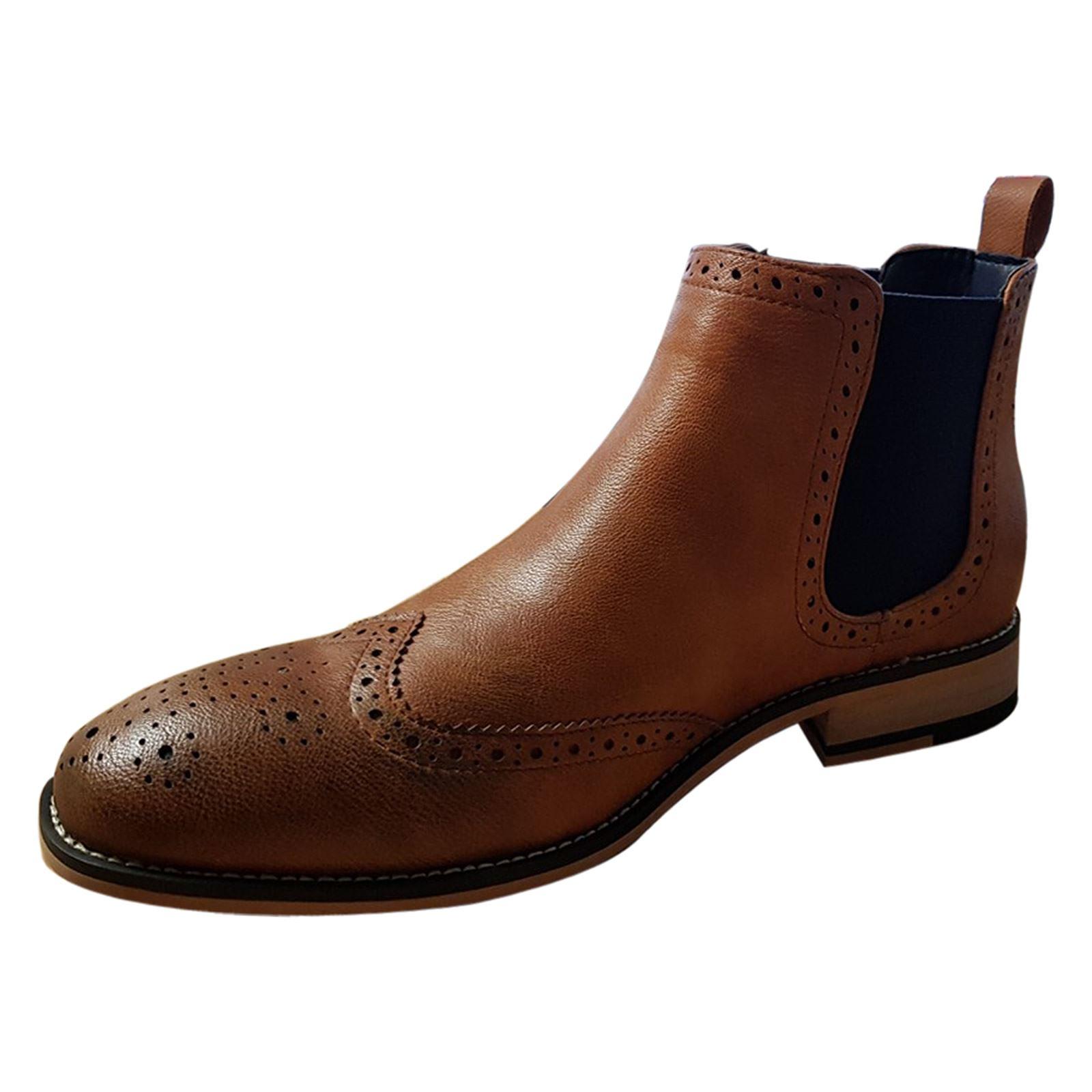Mens Chelsea Boots Cavani Hound Leather Look Slip On Classic Mod ... 18f4f4b64ee