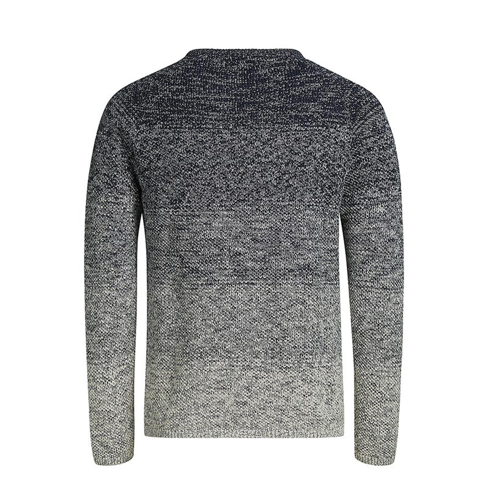 JACK-amp-JONES-CARBURANTE-Maglione-da-Uomo-Lavorato-a-Maglia-Girocollo-Pullover-sweater miniatura 7