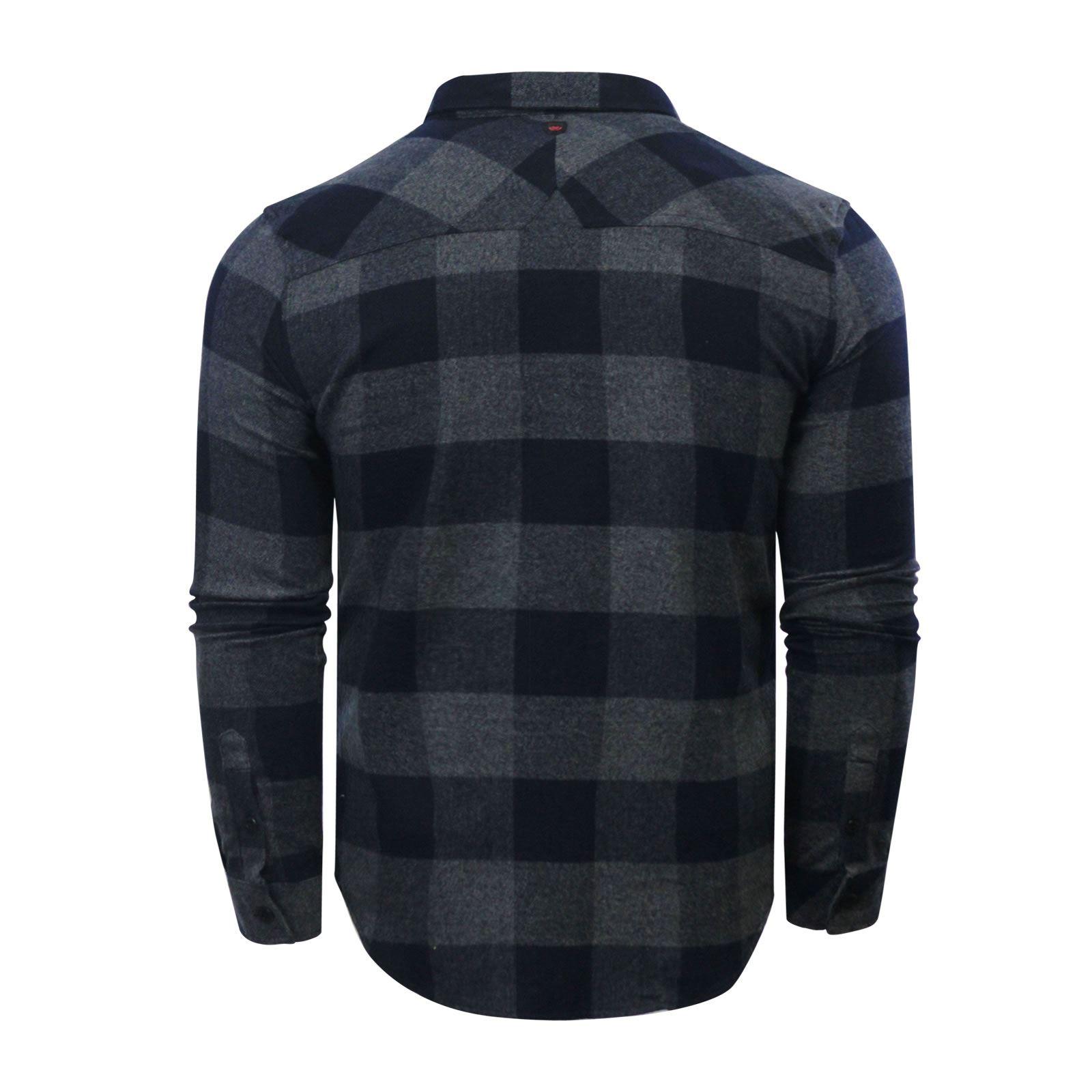 Camicia CHECK da Uomo Duck /& Cover Chapman Flanella Cotone Spazzolato Con Colletto Top Casual