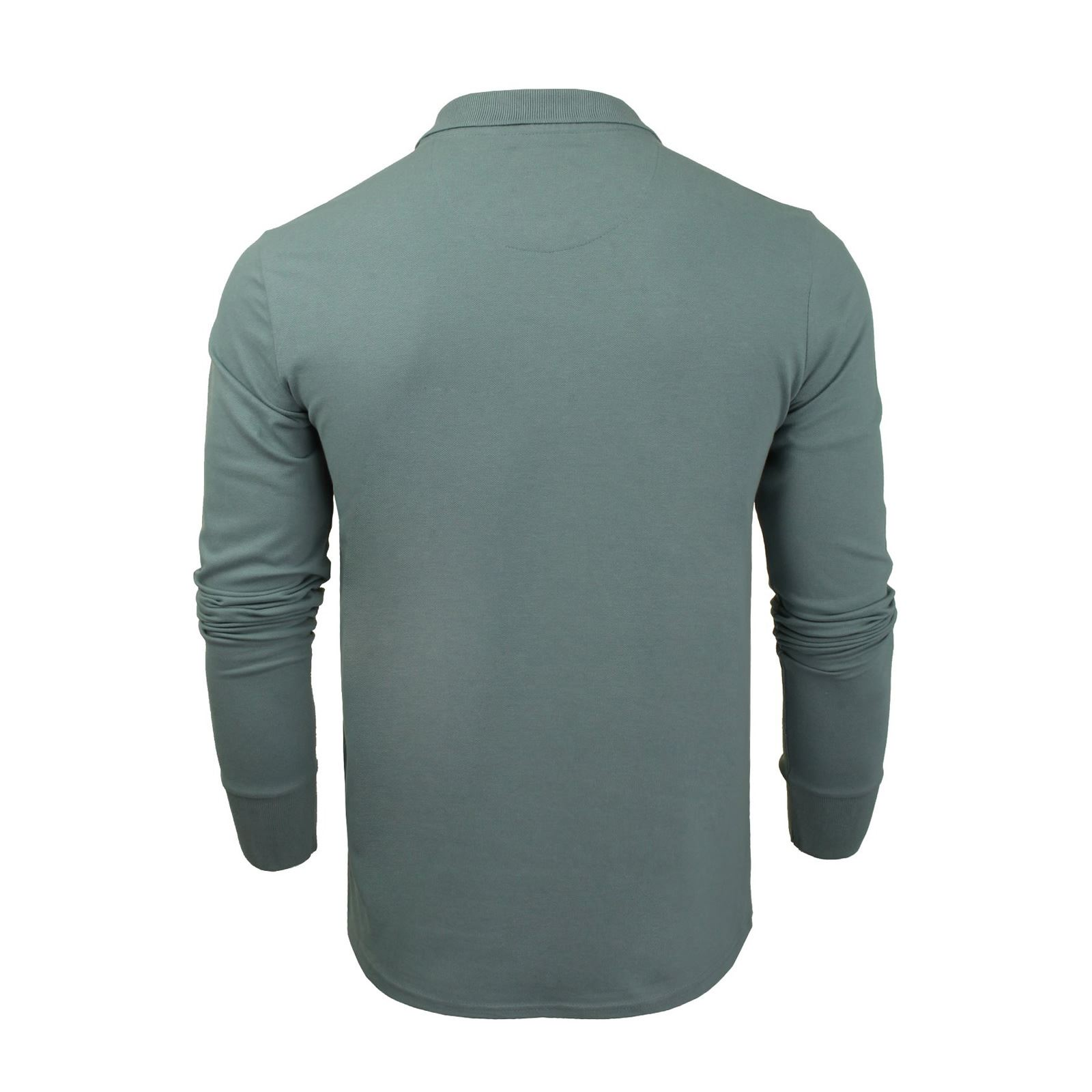 Brave-Soul-Mens-Polo-Shirt-Long-Sleeve-Collared-Top-In-Various-Styles thumbnail 41