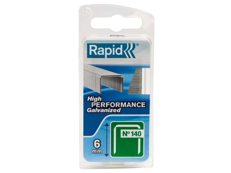 Rapid RPD1406 140//6 6mm Galvanised Staples Box 2000