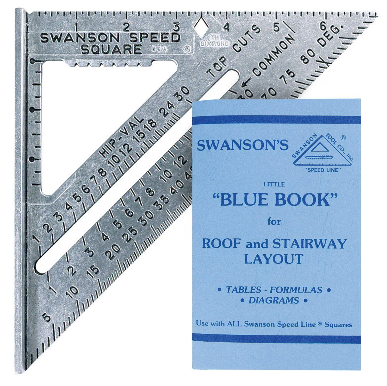 Swanson 7 Quot Speed Roofing Rafter Square With Blue