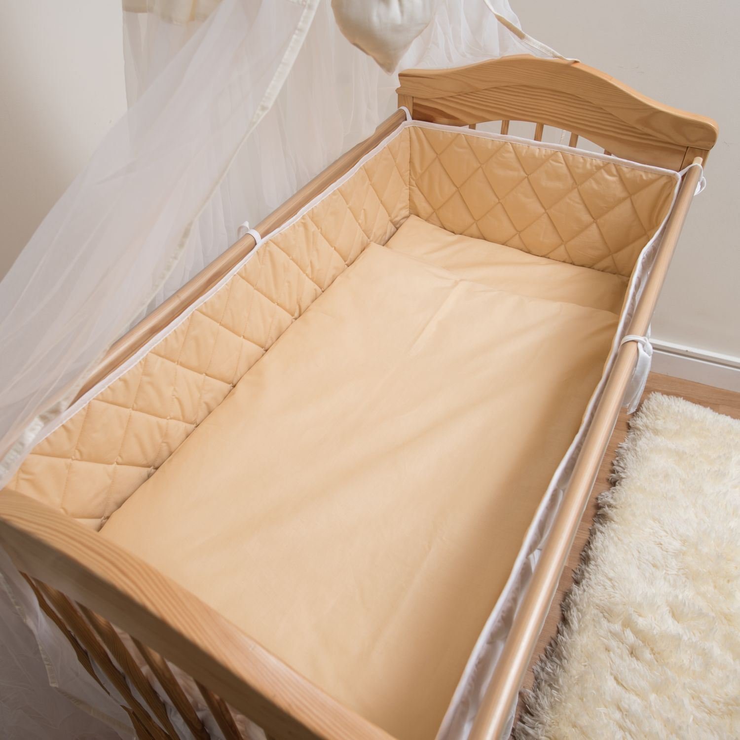 All Round Large COT BUMPER 4 Sided Long Fits All Baby Cots Cotbed | eBay