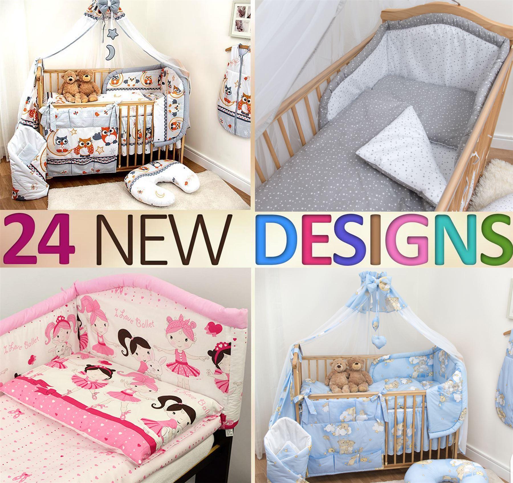 10 Teiliges Kinder Bettwäsche Mit Dickem Kinderbett Schutz 120x60