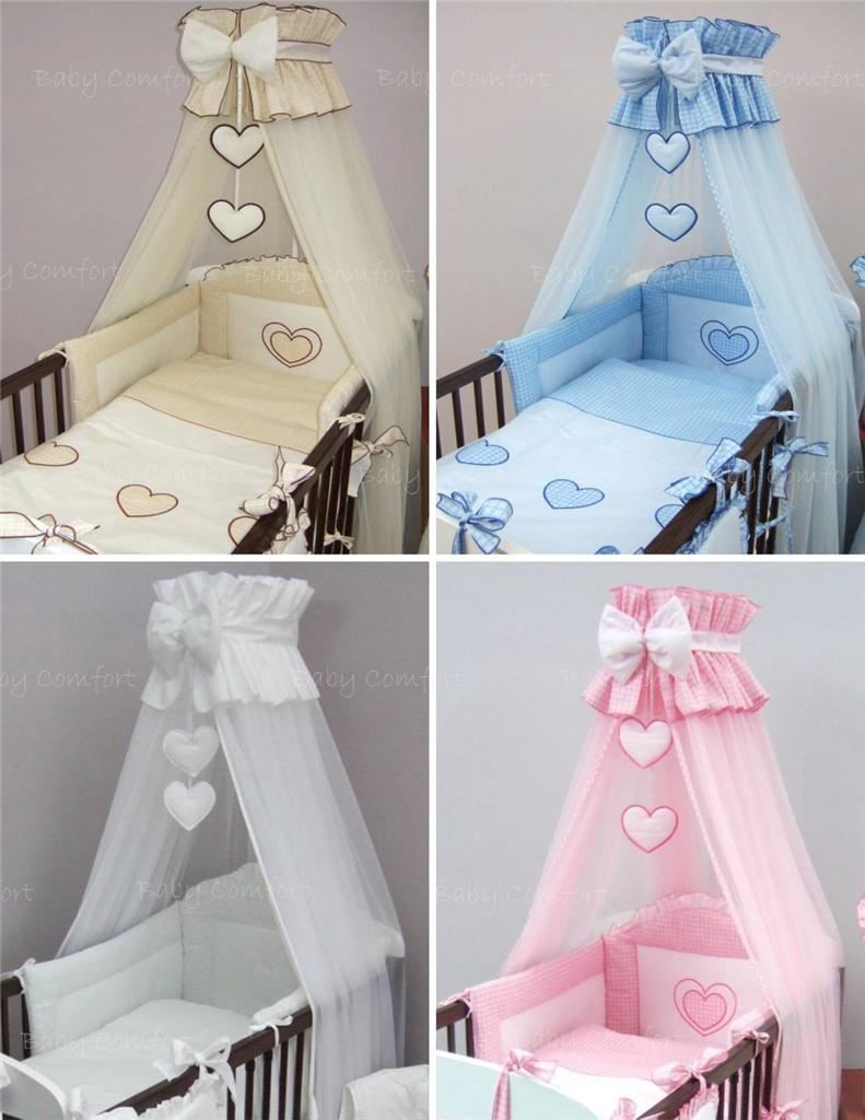 Crown Cot Canopy Mosquito Net Large Fits Baby Cot Bed Designed with Bow u0026 Hearts & Crown Cot Canopy Mosquito Net Large Fits Baby Cot Bed Designed ...