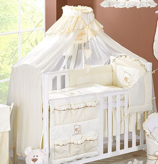 Set Comprises 1x Crown Canopy Net 480cm width x 175cm length (Allows you to cover all sides of the cot or cot bed) ... & Coronet Canopy Drape / Mosquito Net BIG Fits Cot Bed - Check or ...