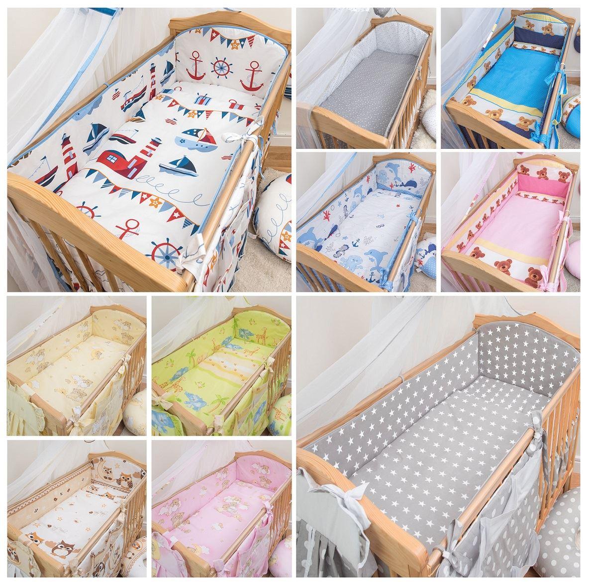 5 Teiliges Baby Bettwäsche Set 120x60 140x70 Cm 4 Seitig