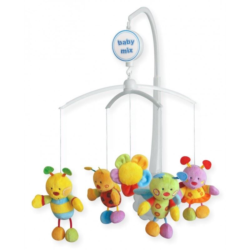 Crib Nursery Newborn Toys : Baby nursery plush cot crib mobile toy soothing musical